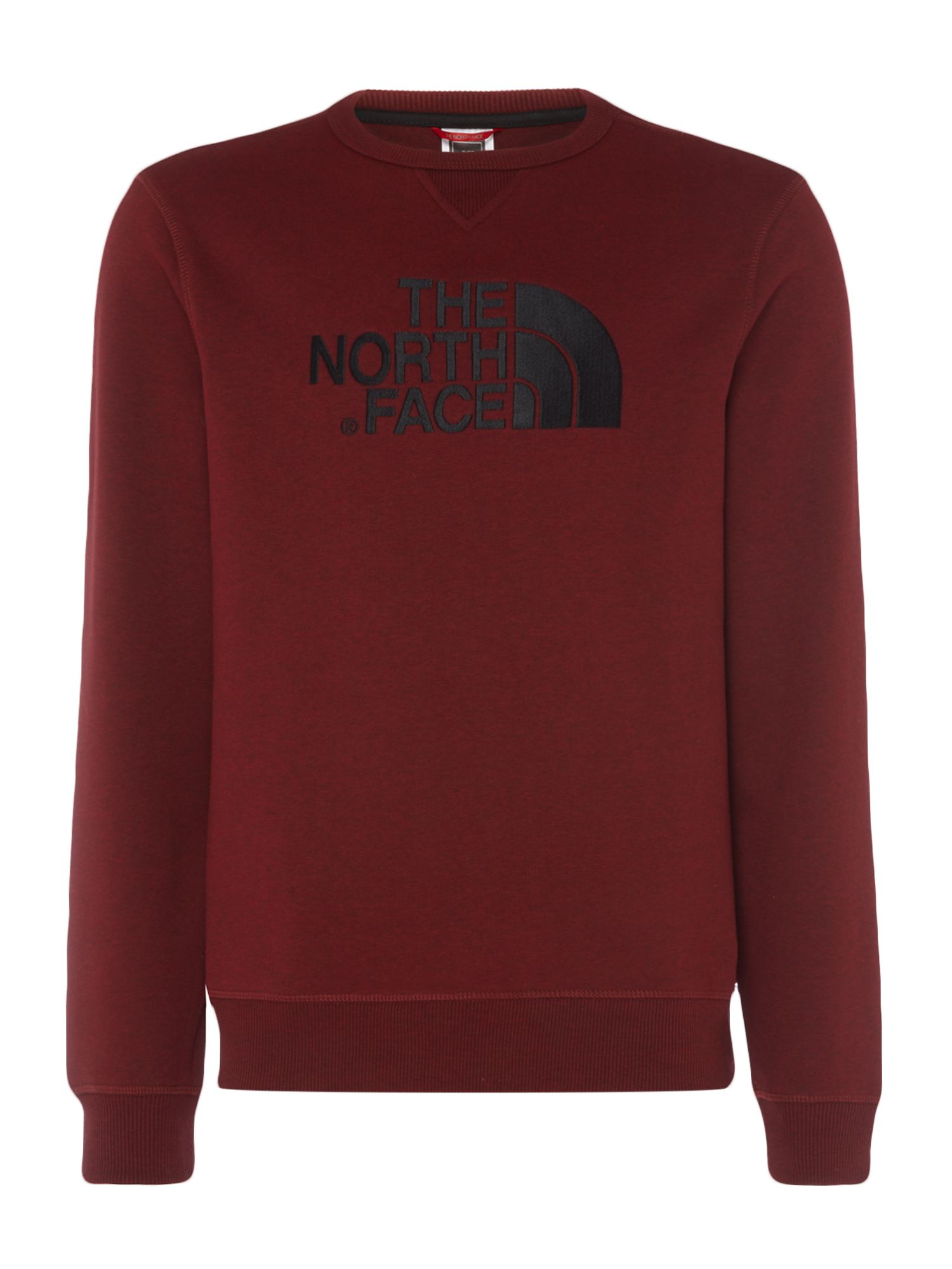 Men's The North Face Logo Crew Neck Sweat, Dark Red