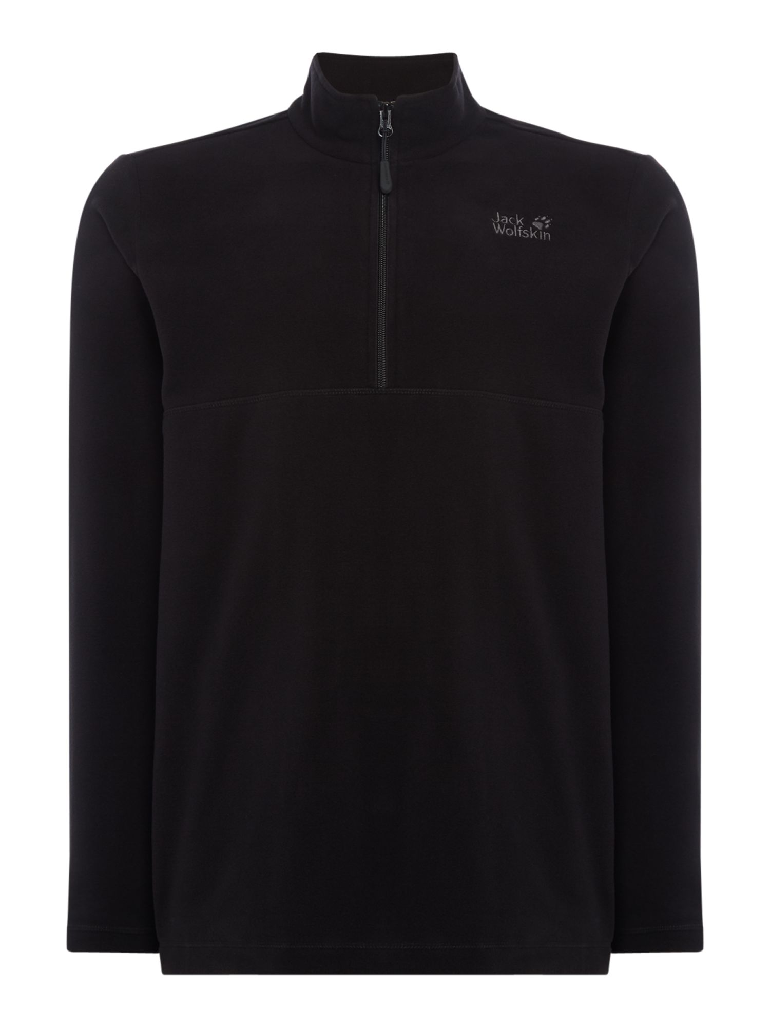 Men's Jack Wolfskin Gecko 1/4 Zip Fleece, Black