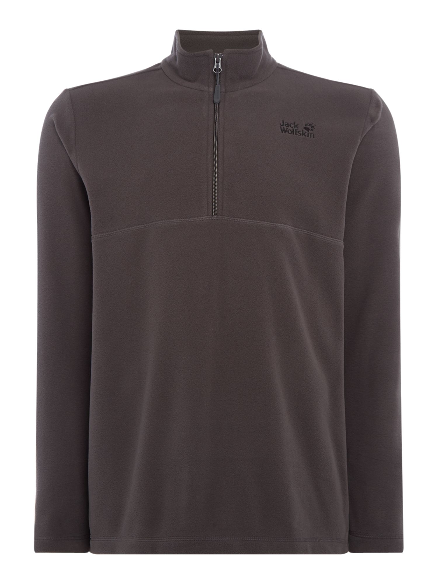 Men's Jack Wolfskin Gecko 1/4 Zip Fleece, Grey