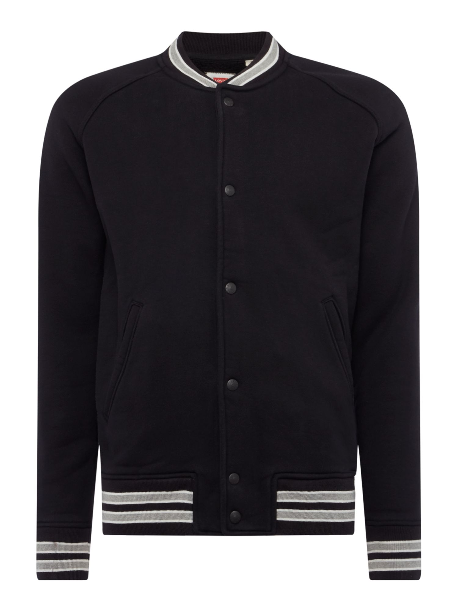 Men's Levi's Jersey Bomber Jacket, Black