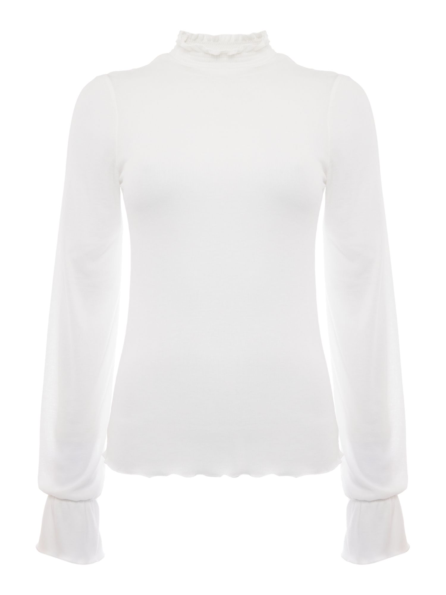 Free People Out Of Sight Mock Neck Top, Cream
