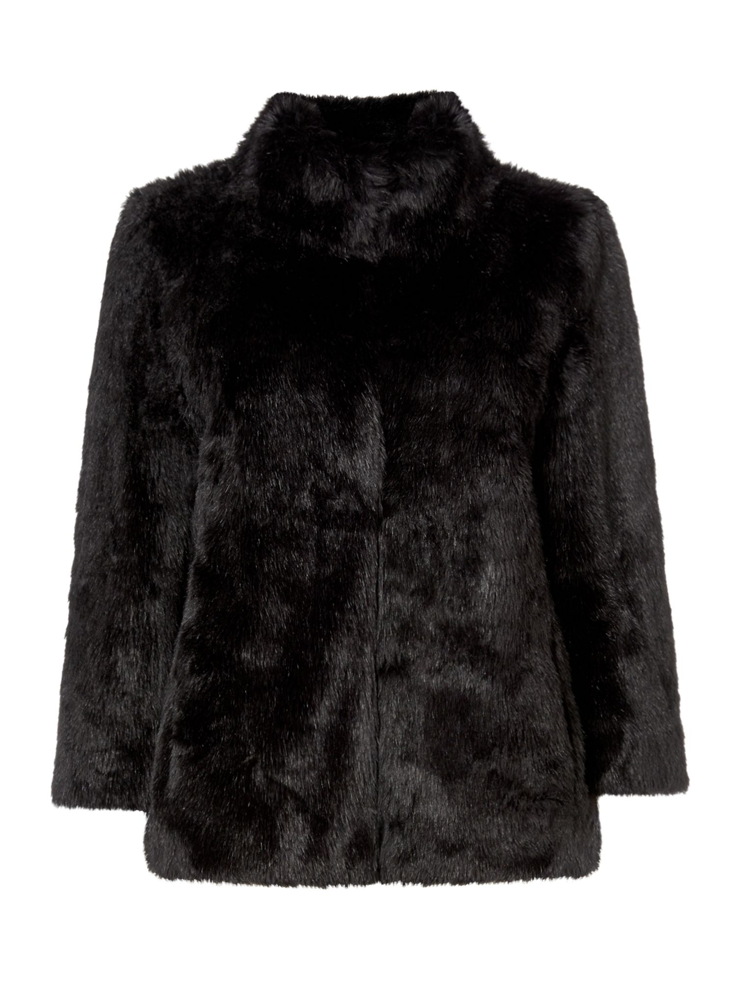 Michael Kors Faux fur jacket, Black