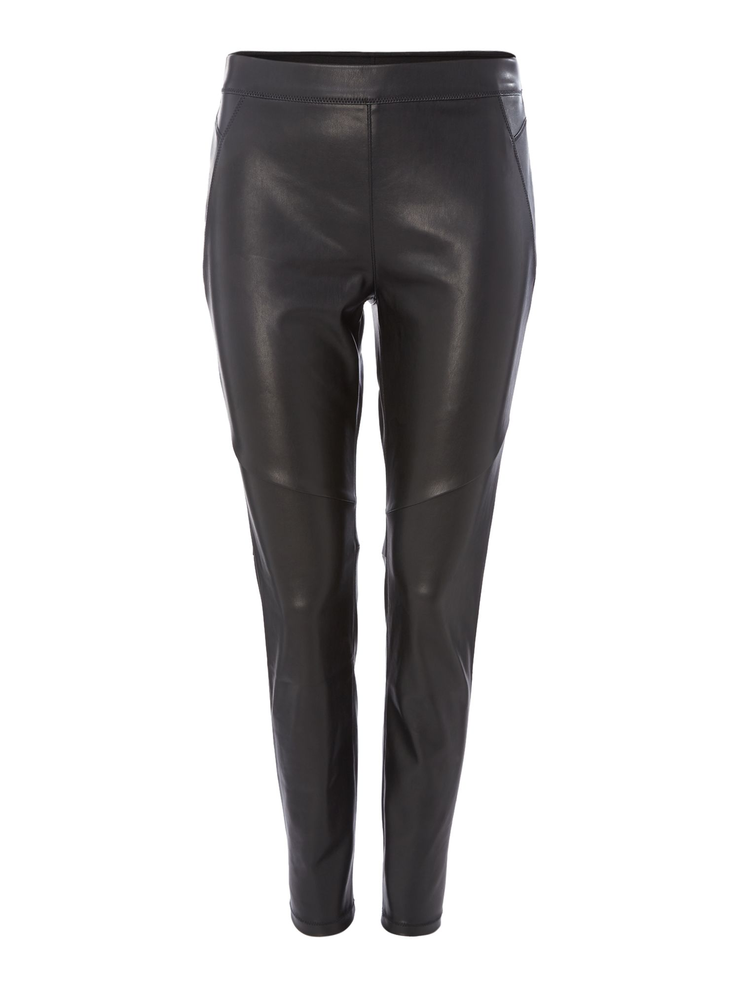 Free People Vegan Leather Look Leggings, Black