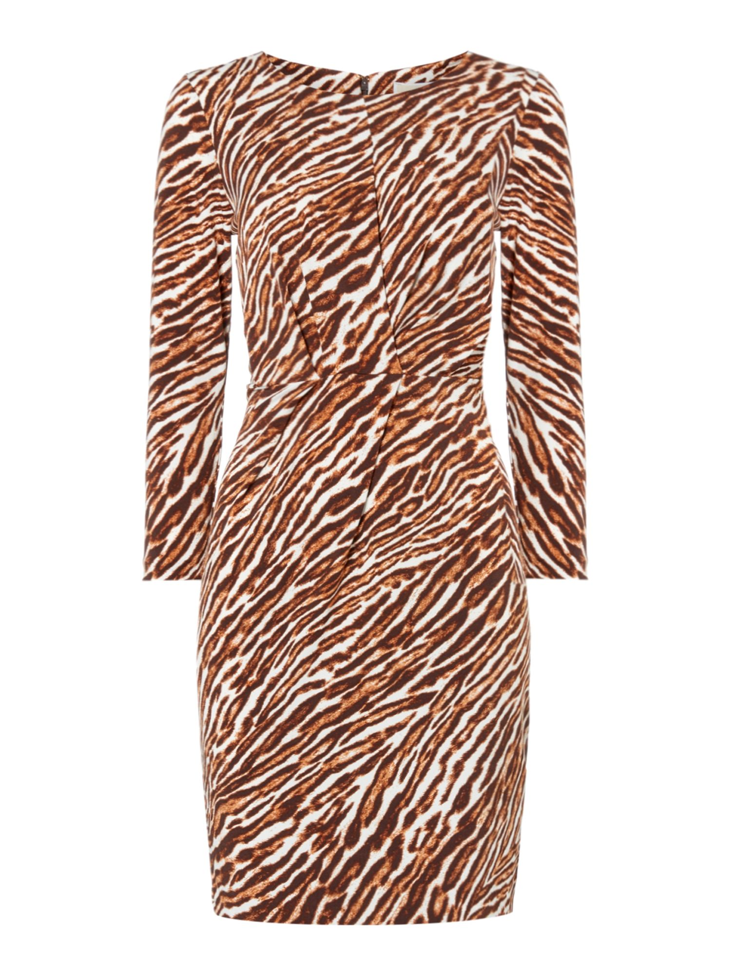 Michael Kors Exclusive safari pleat front dress, Brown