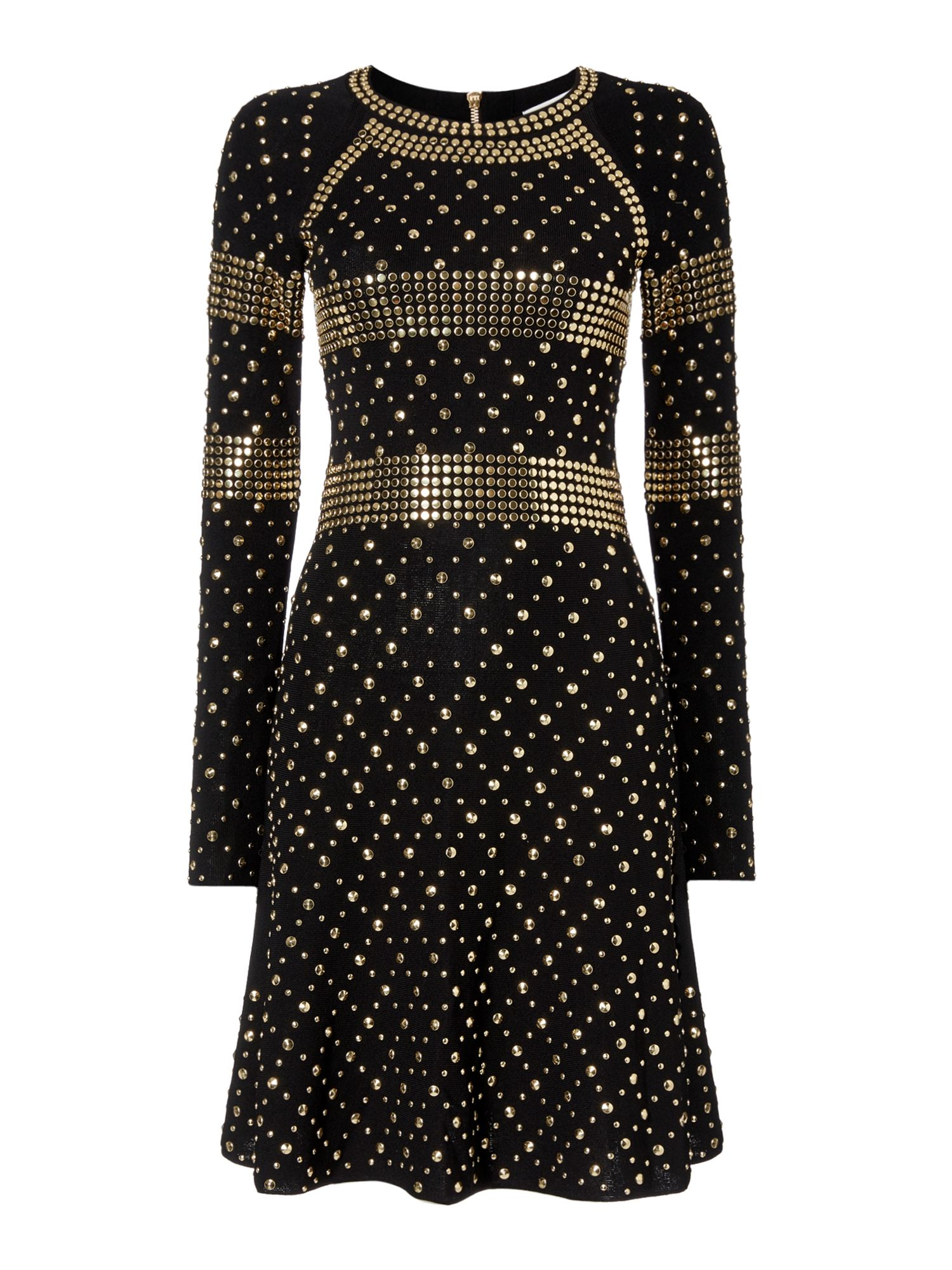 Michael Kors Studded knit dress, Black