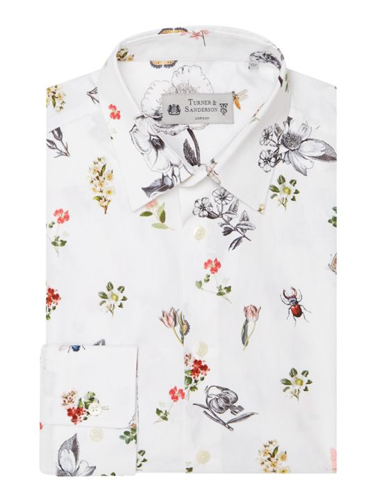 Turner & Sanderson Hague Tailored Fit Floral Printed Shirt
