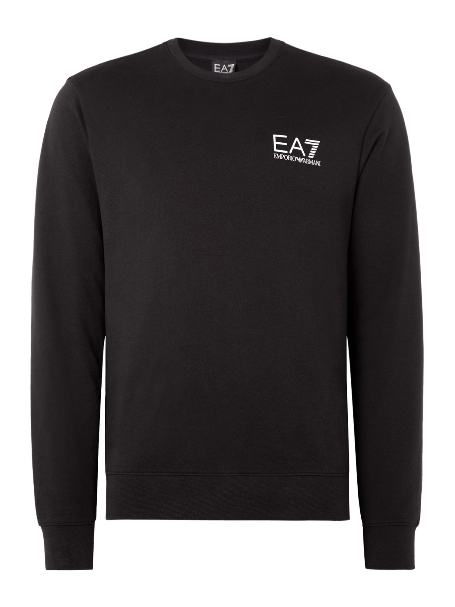 Men's EA7 Core ID crew neck, Black