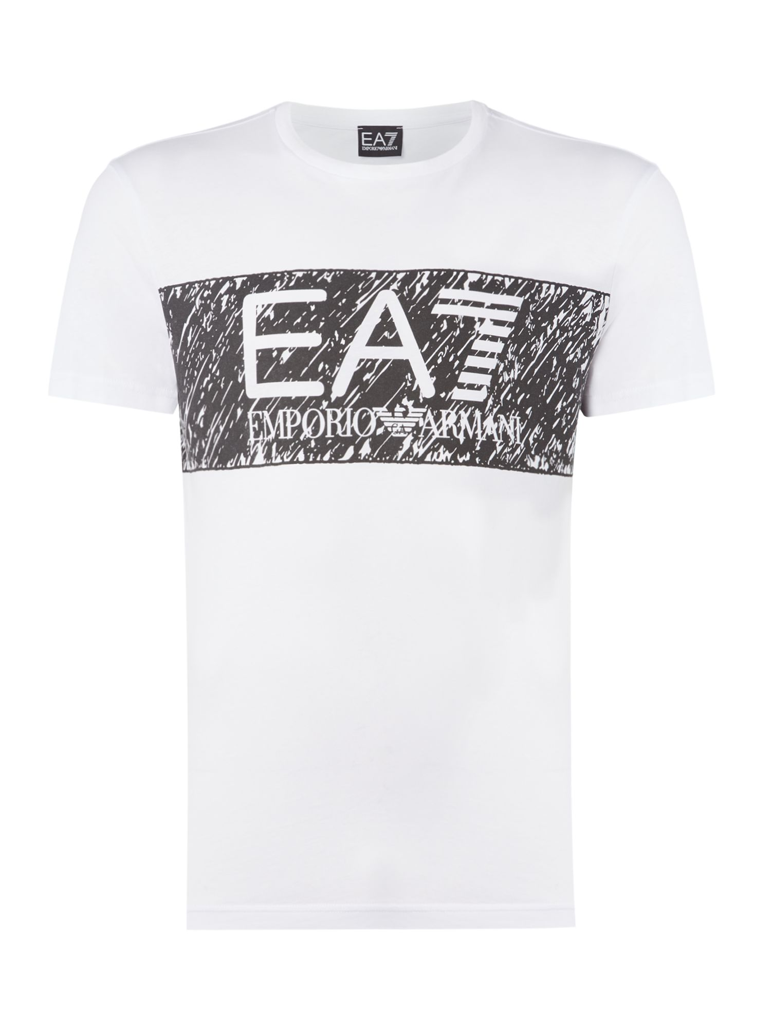 Men's EA7 Logo series graphic tshirt, White