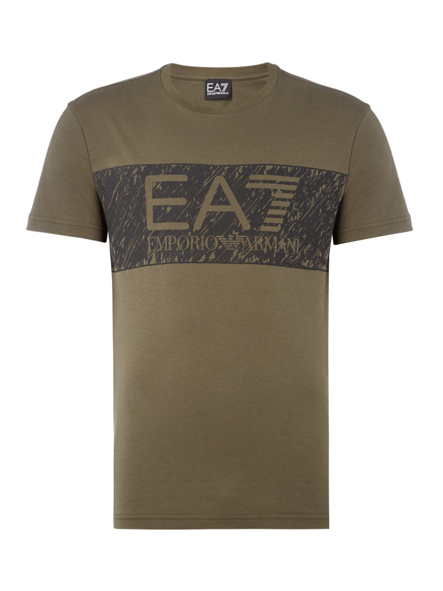 Men's EA7 Logo series graphic tshirt, Khaki