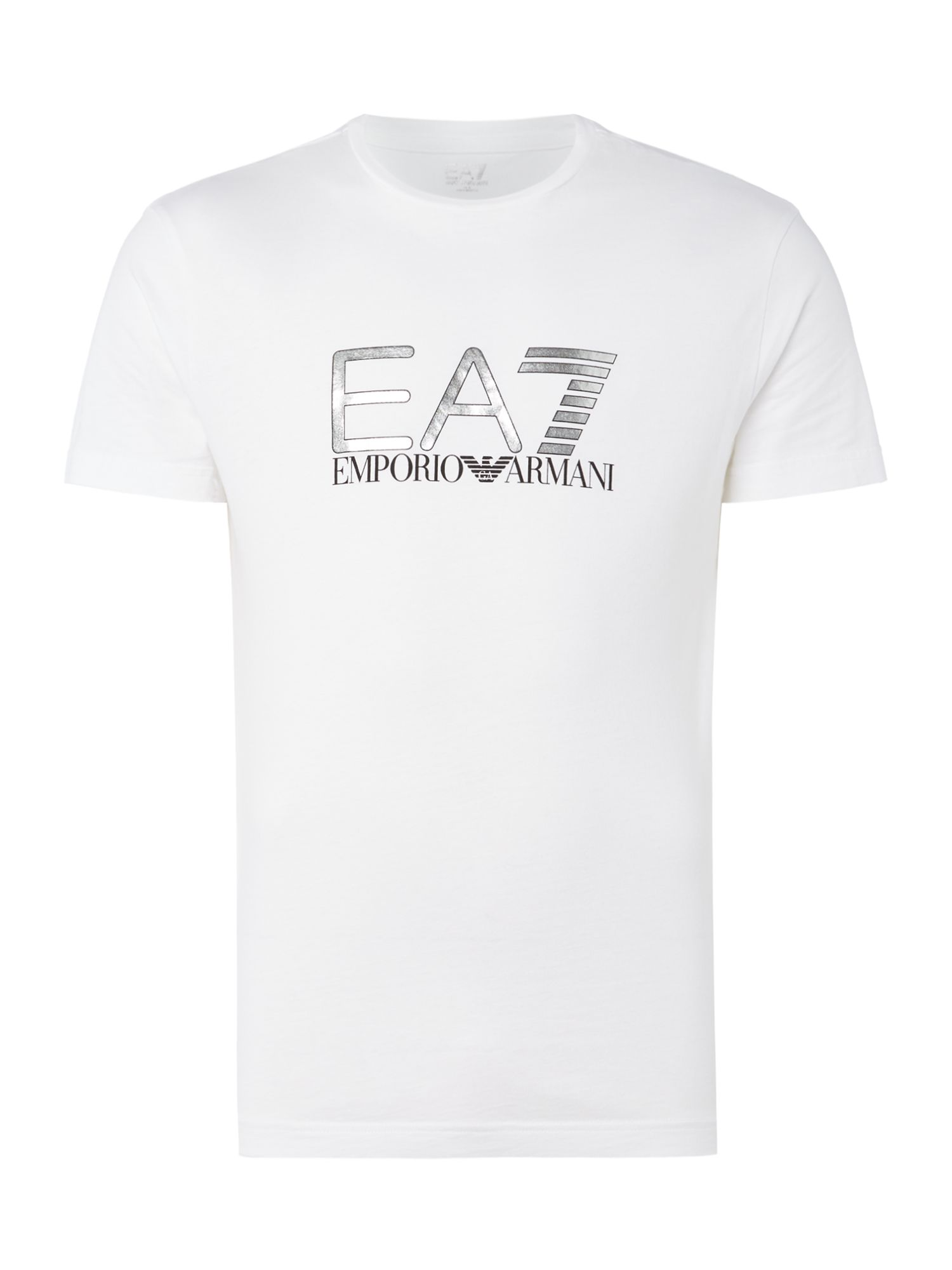 Men's EA7 Visibility graphic tshirt, White