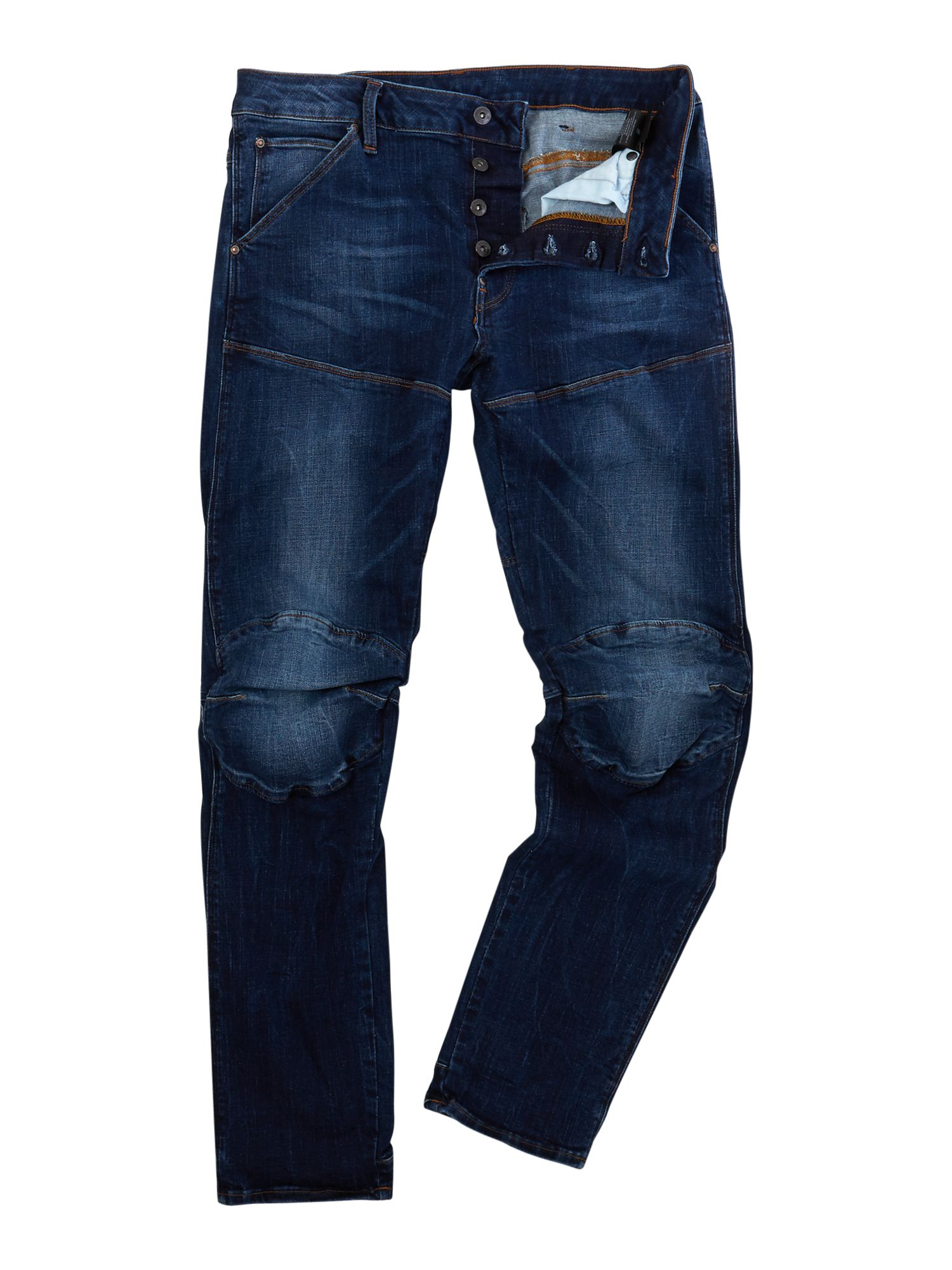 Mens G-star 5620 3d Slim Trender Ultimate Stretch Jeans, Denim Mid Wash