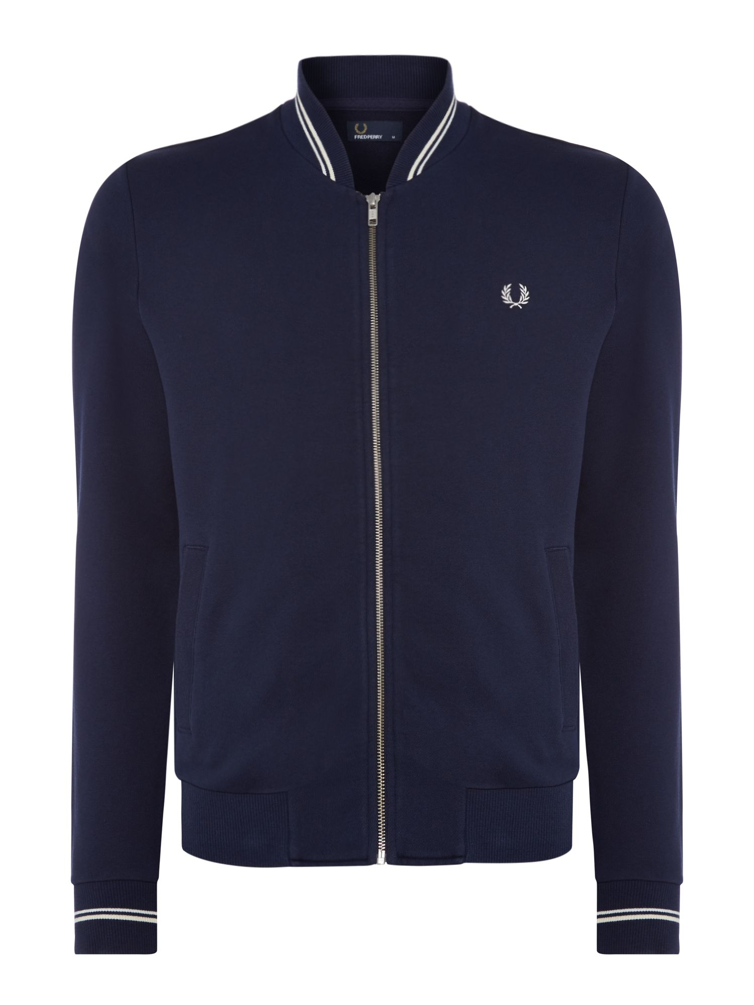 Men's Fred Perry Bomber neck sweat, Blue