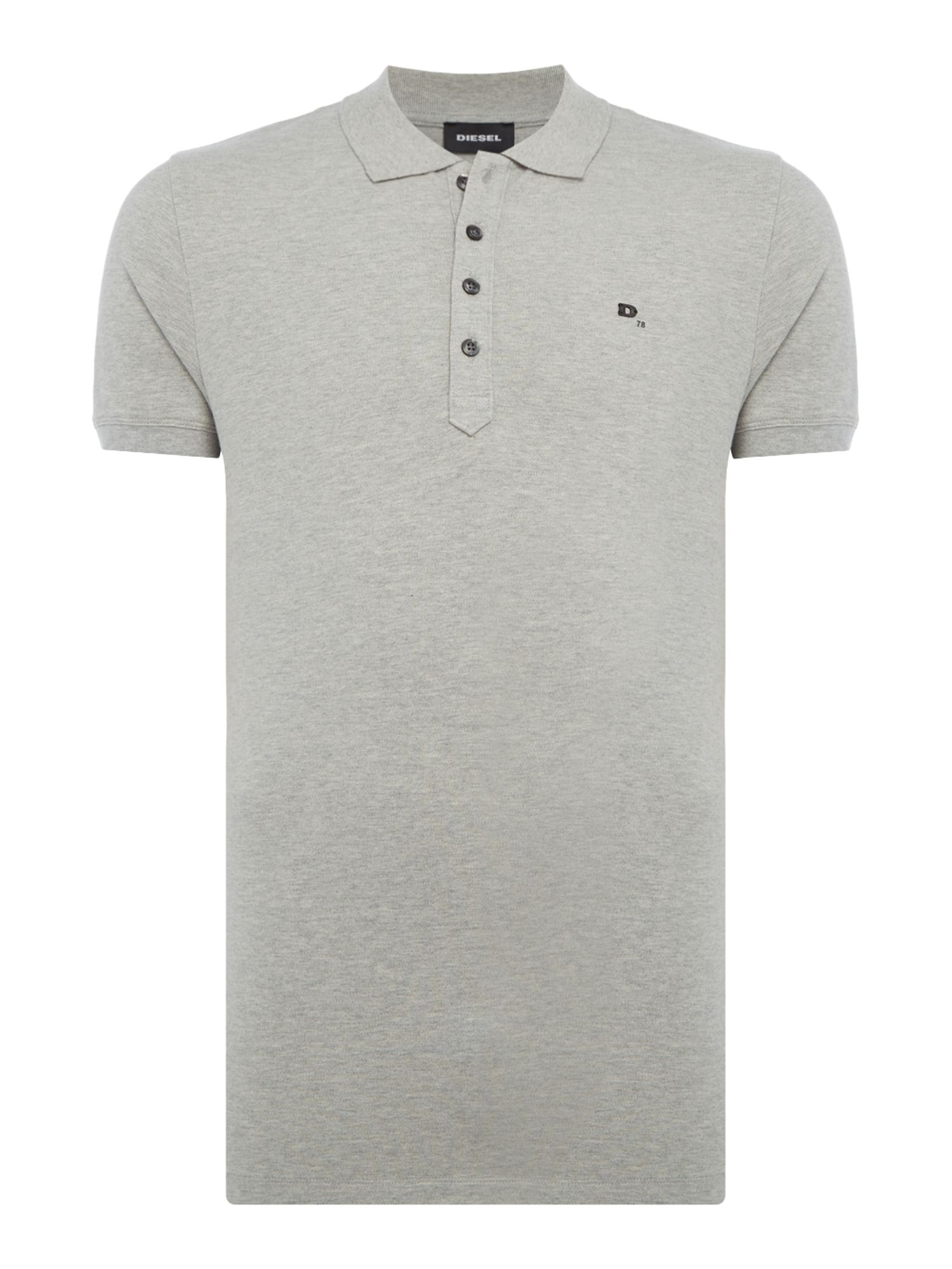 Men's Diesel T-Heal Logo Polo Shirt, Grey
