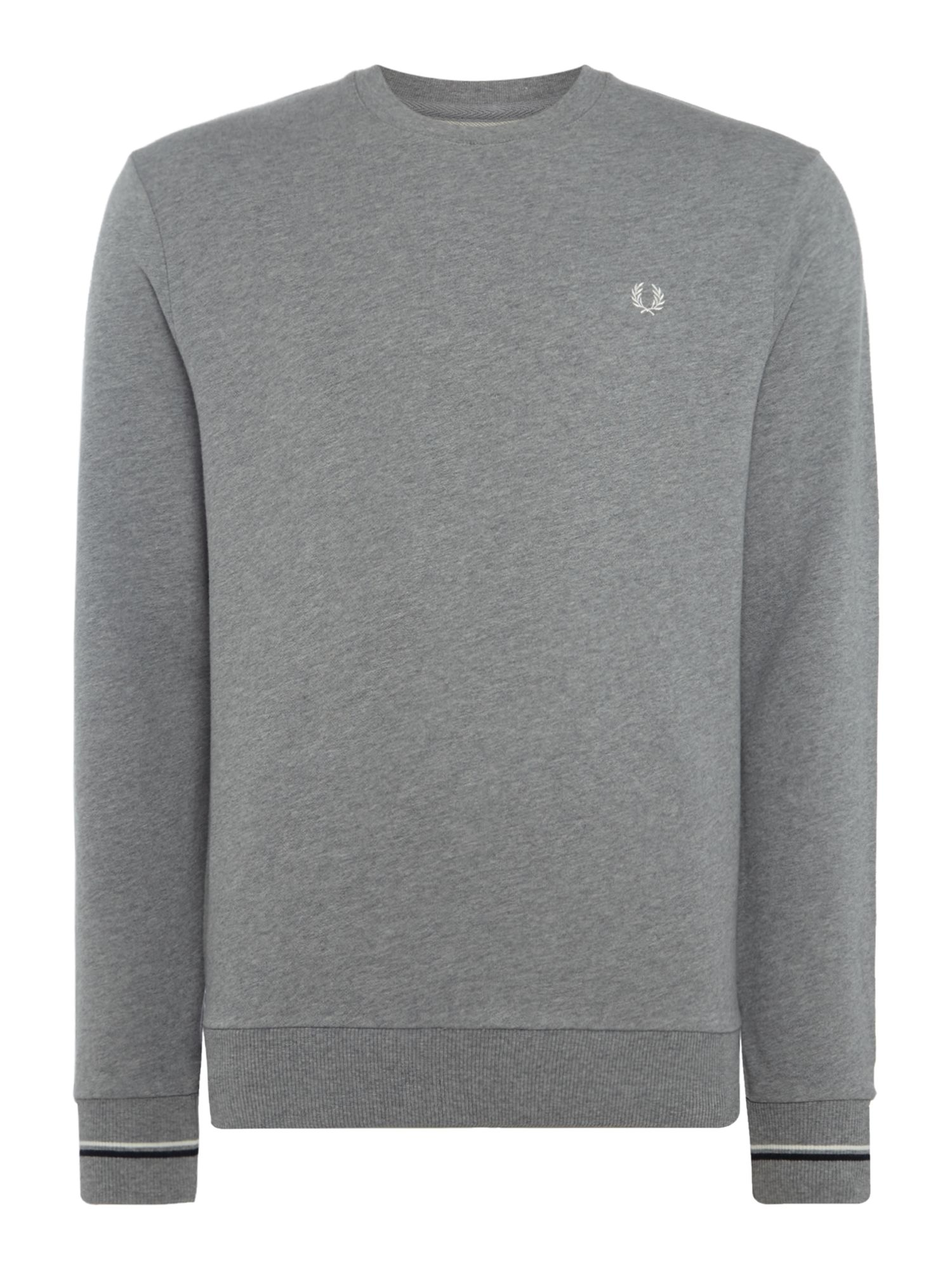 Men's Fred Perry Crew neck sweat, Grey