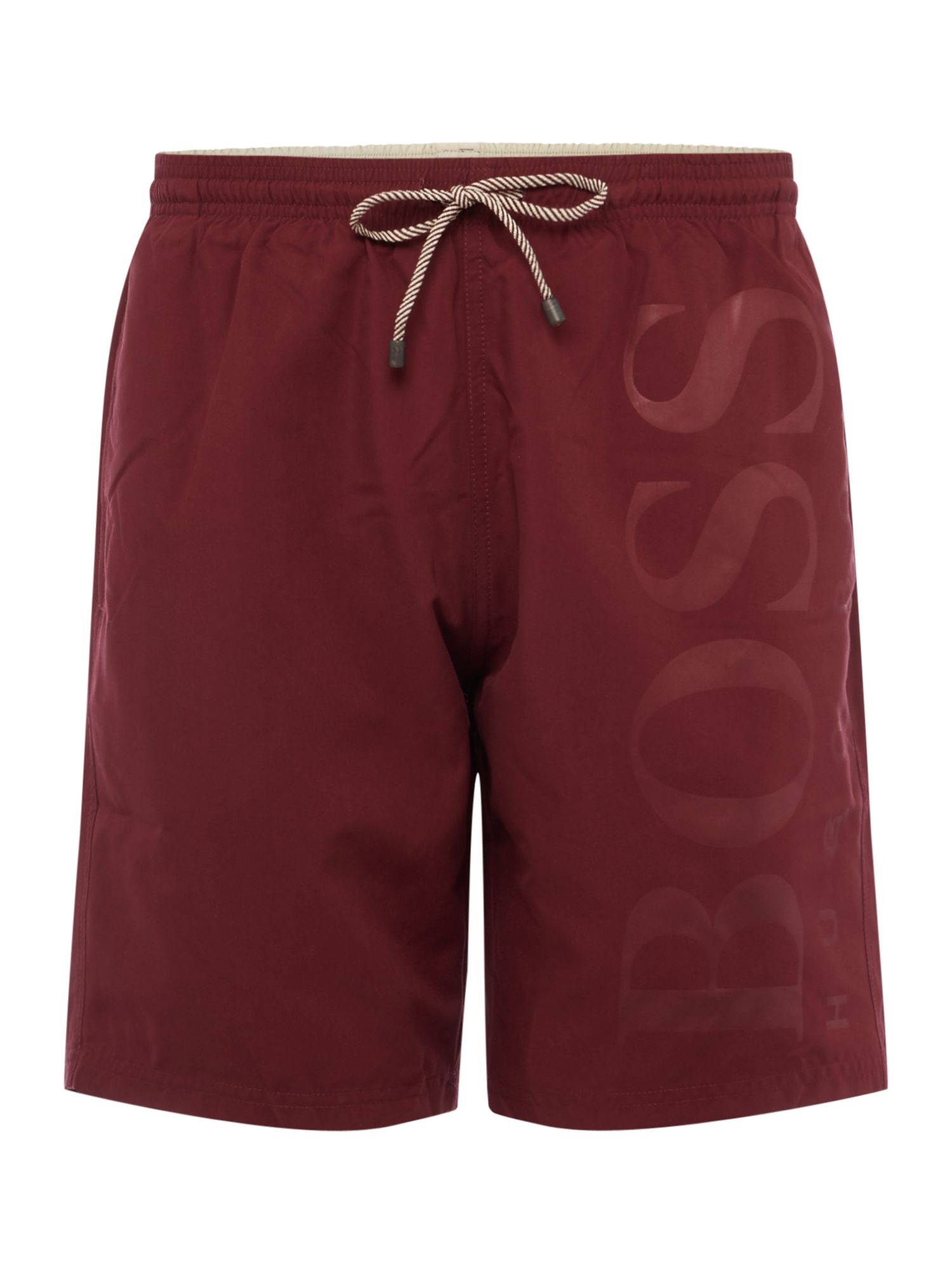 Men's Hugo Boss Orca Long Length Side Logo Short, Red