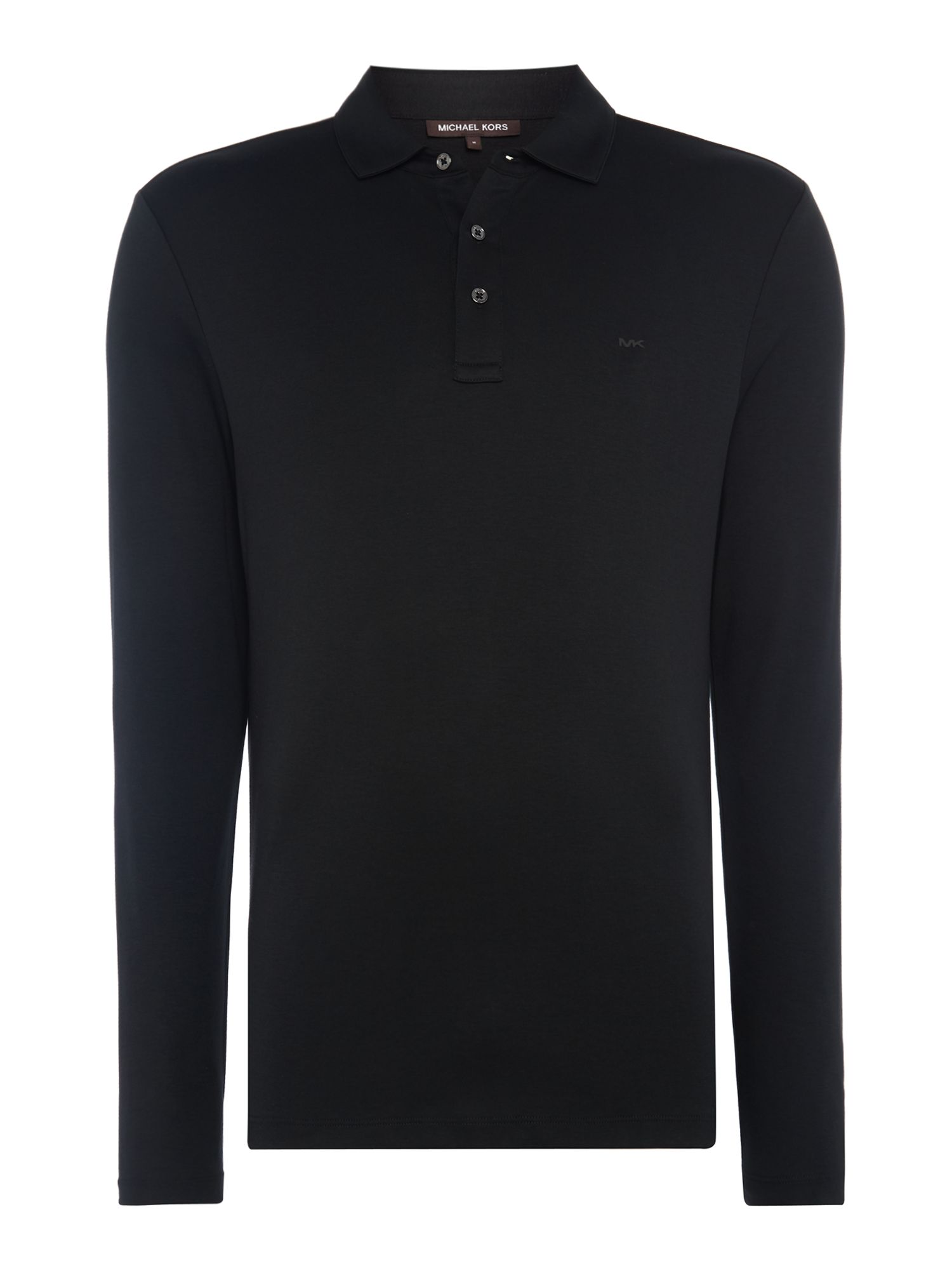 Men's Michael Kors Long Sleeve Slim Fit Polo Shirt, Black