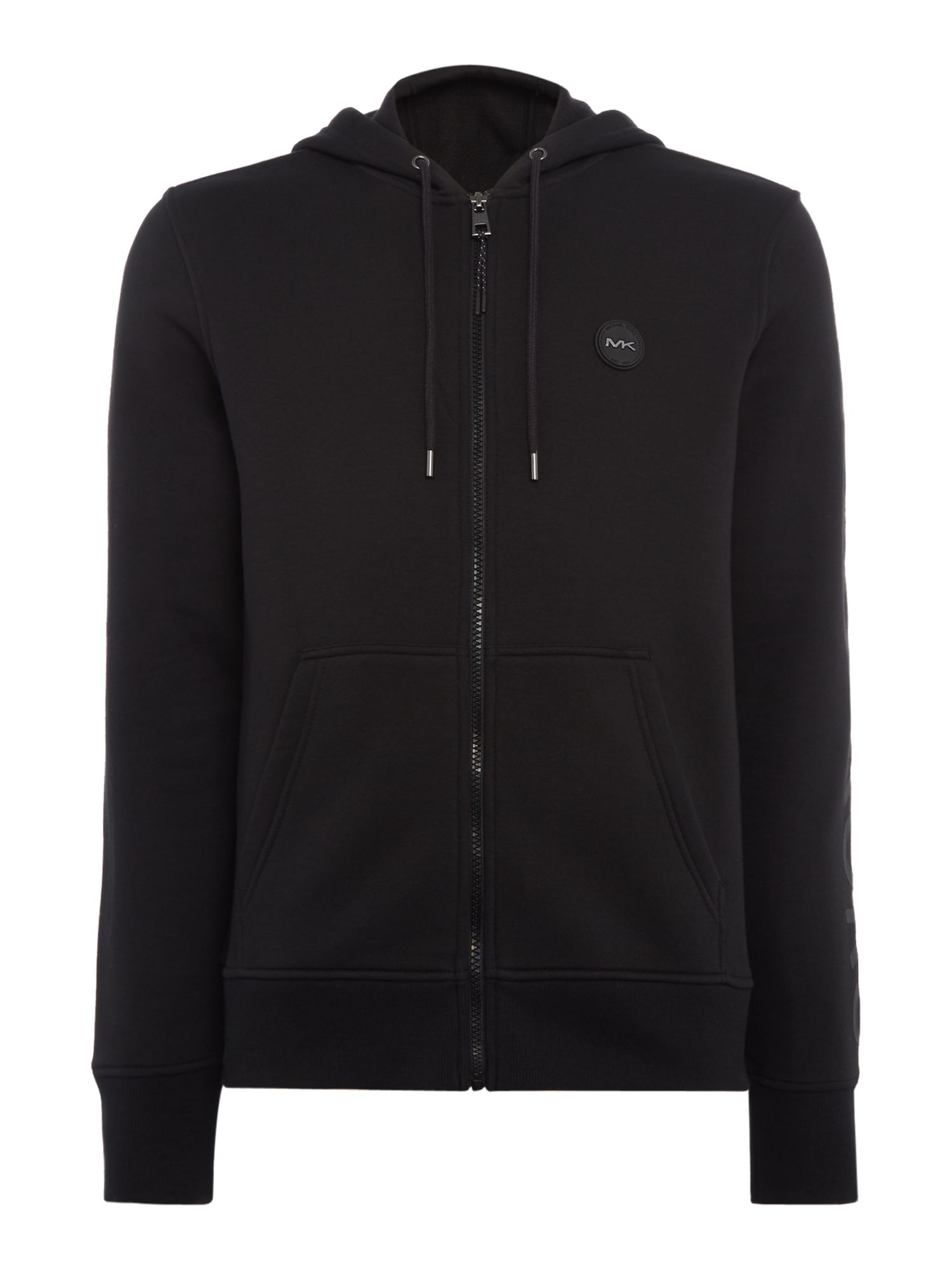 Men's Michael Kors Large Arm Logo Hoodie, Black