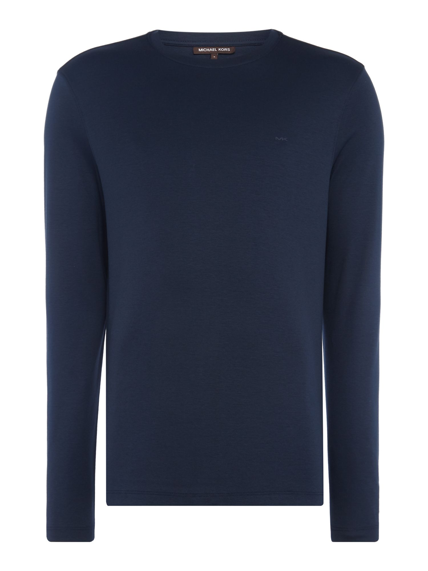 Men's Michael Kors Sleek Long Sleeve Crew Neck T-Shirt, Blue