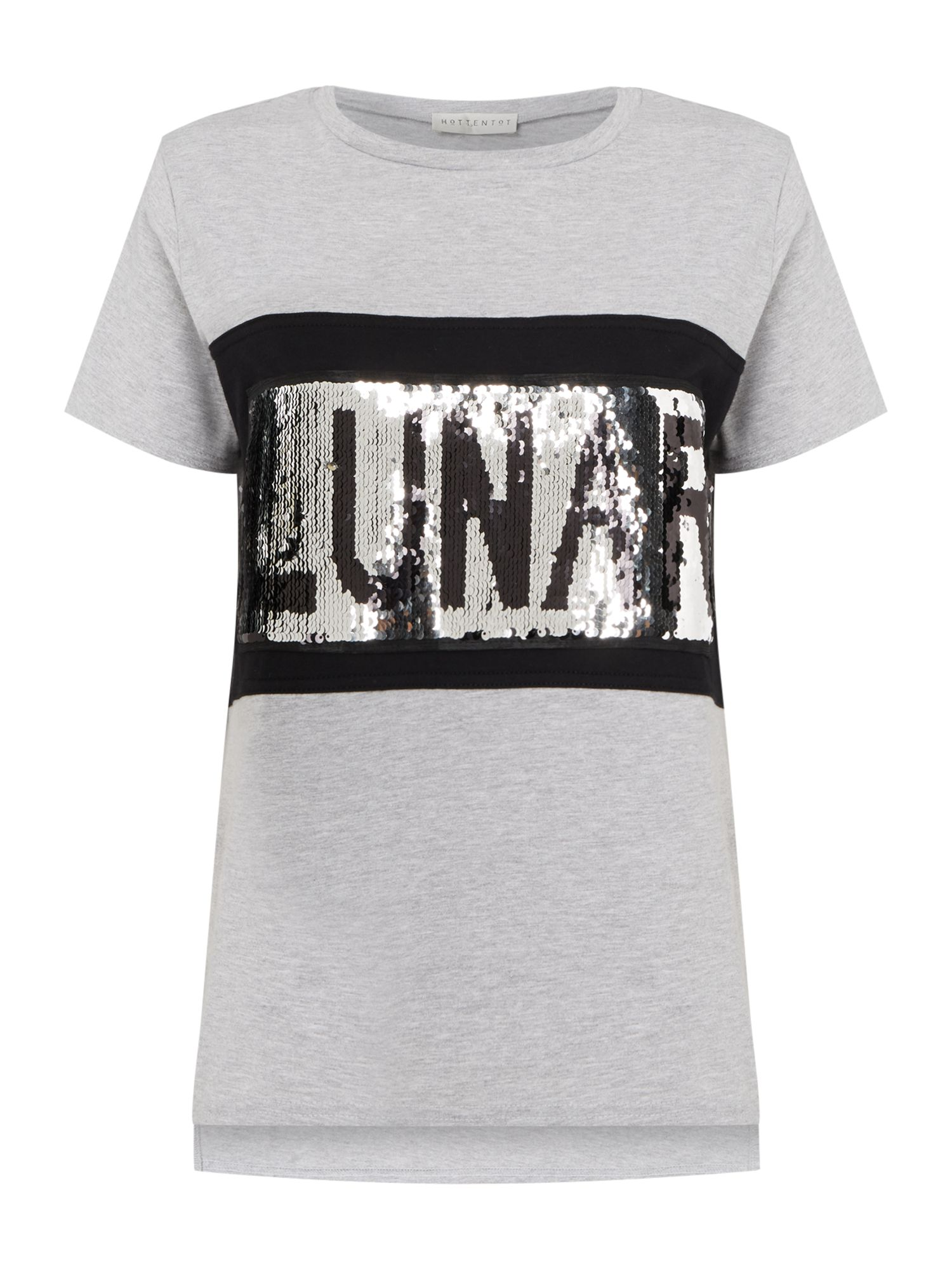 Label Lab Lunar Sequin Tee, Grey