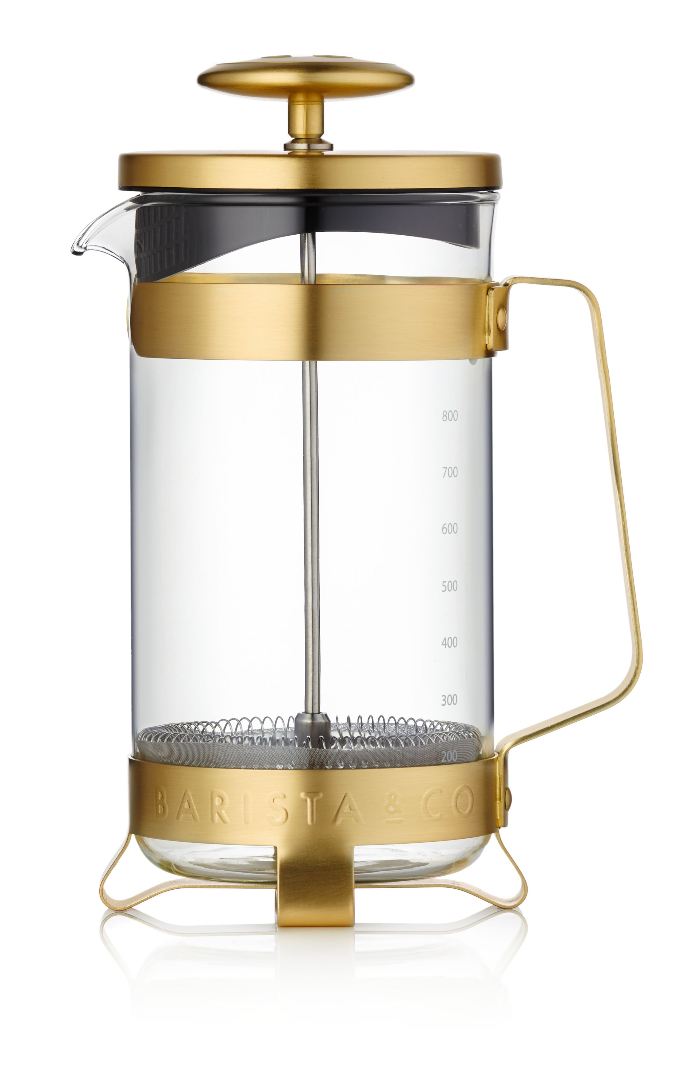 Image of Barista & Co 8 Cup Coffee Press, Midnight Gold, Gold