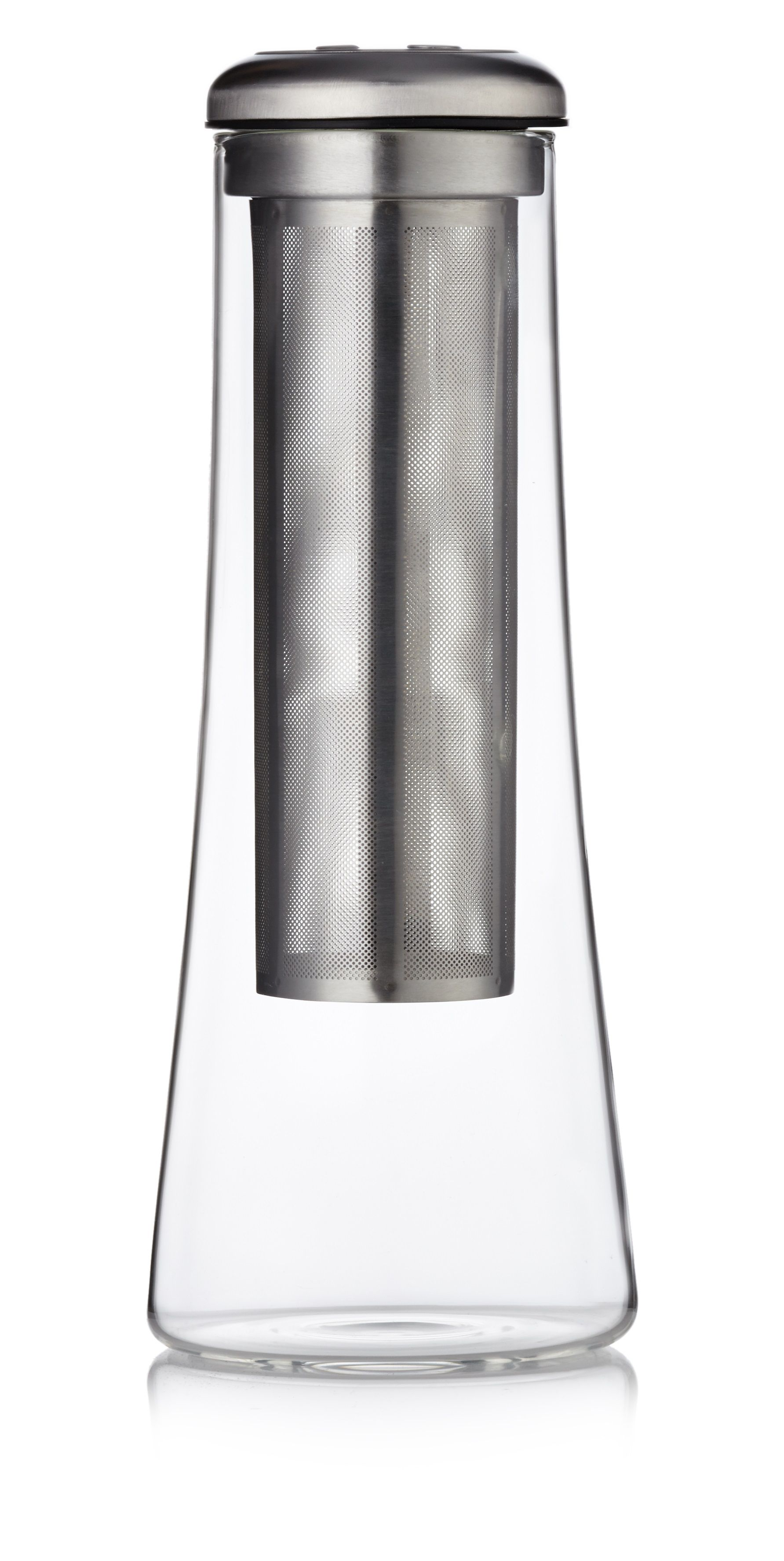 Image of Barista & Co Glass Cold Brew Carafe, Electric Steel