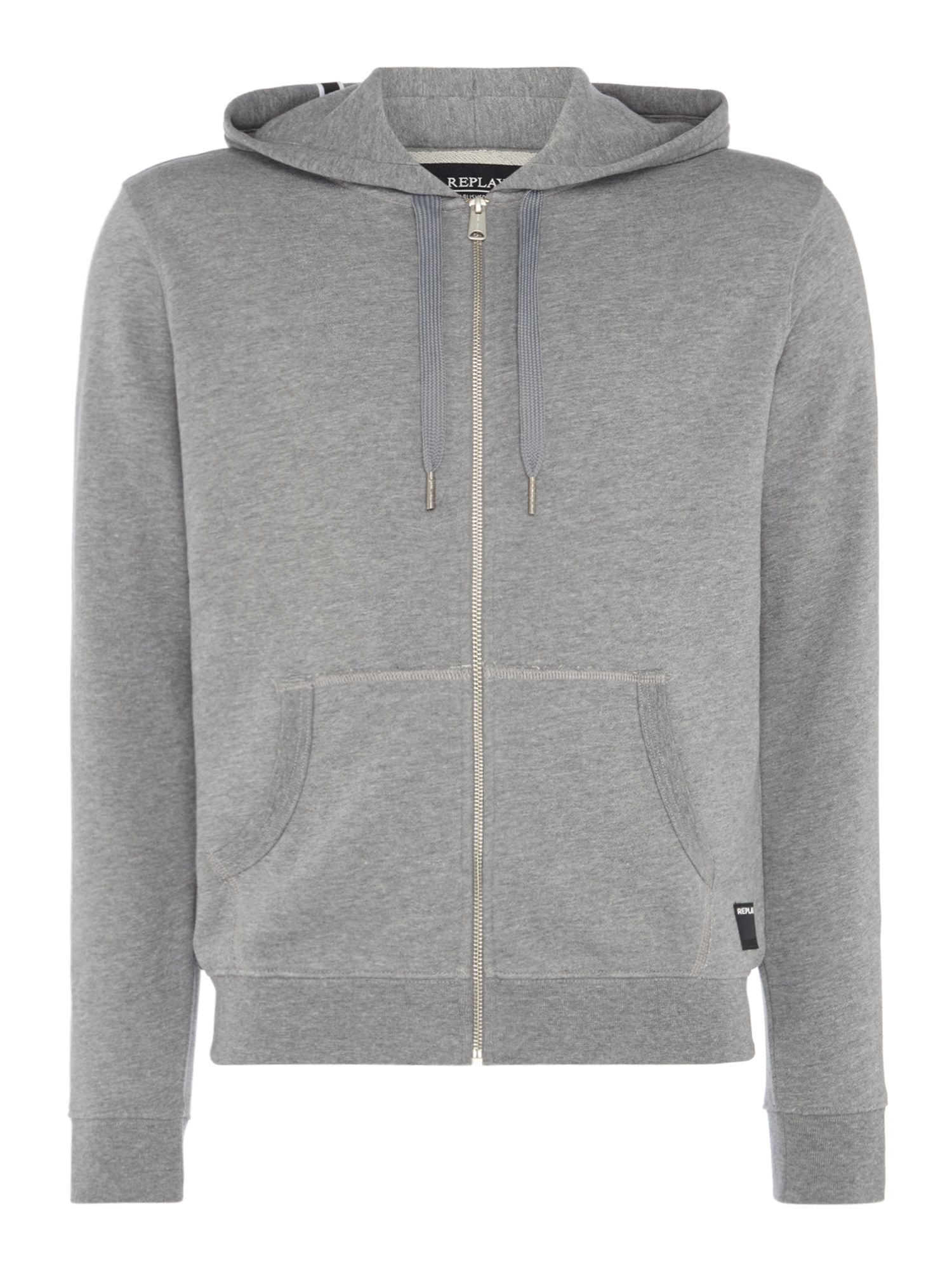 Men's Replay Cotton Fleece Hoodie, Grey