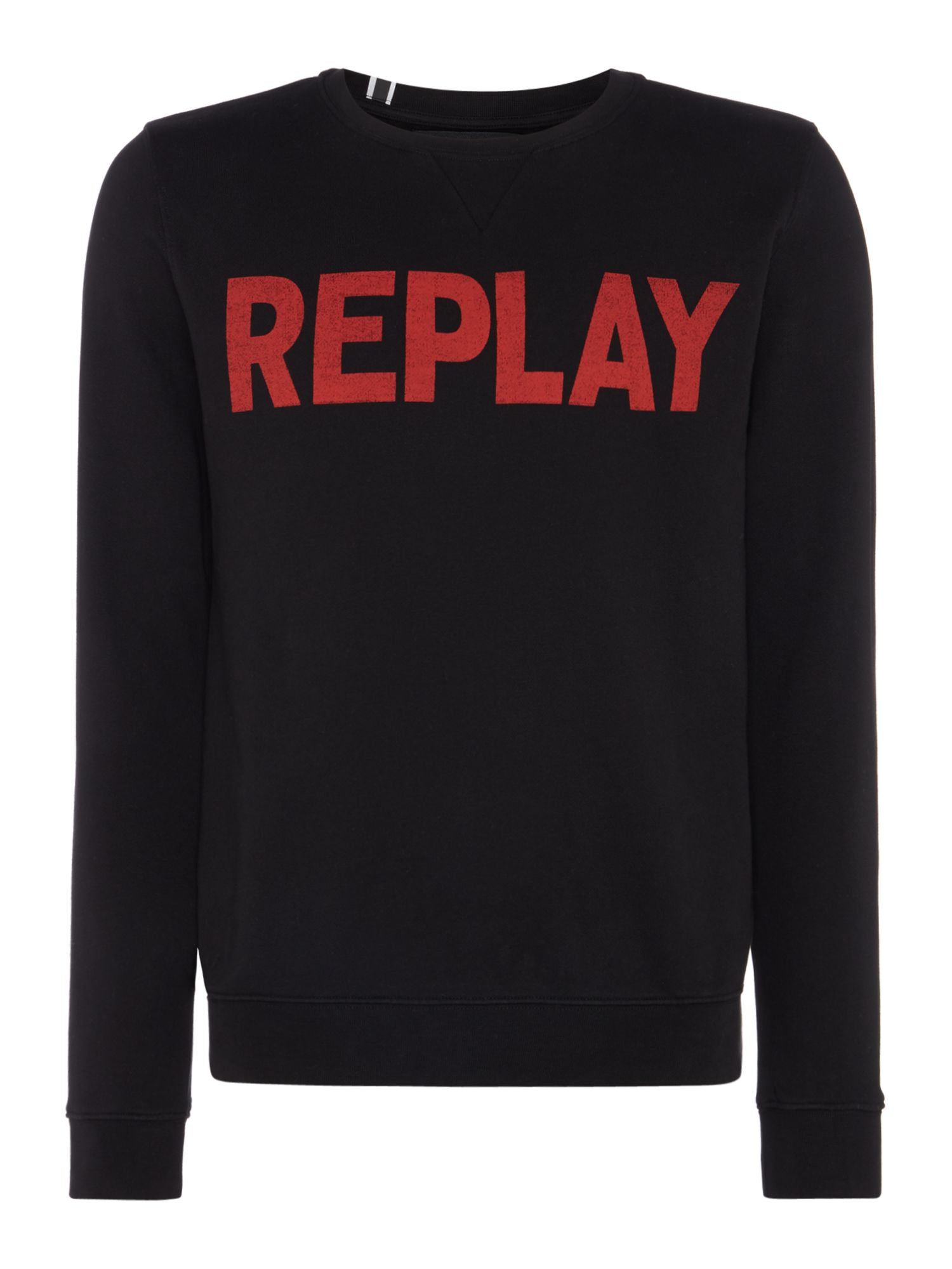 Men's Replay Cotton Fleece, Black