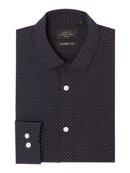 Label Lab Halen Polka Dot Skinny Fit Shirt