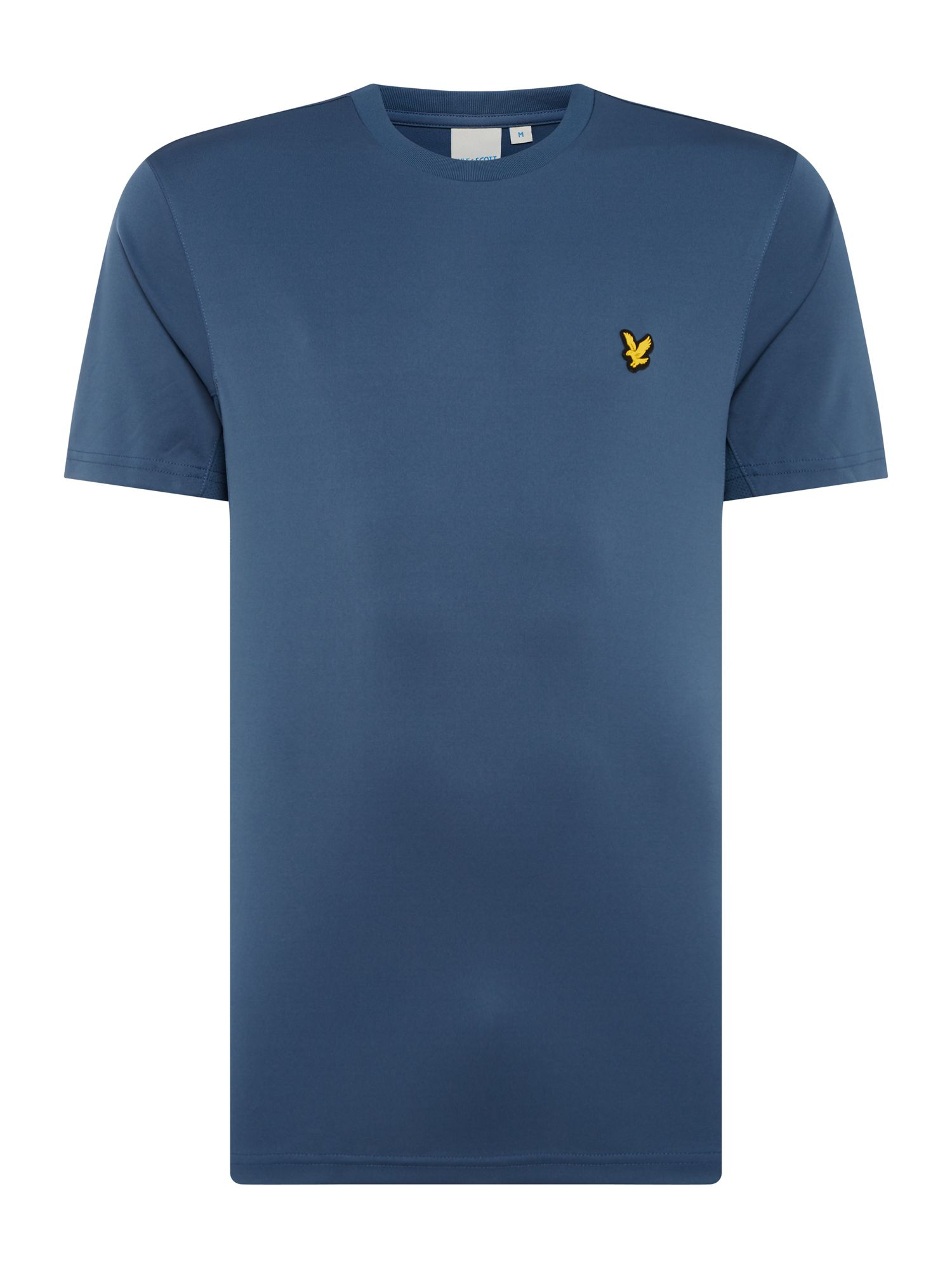 Men's Lyle and Scott Sports Crew-Neck Short-Sleeve T-Shirt, Oil Grey