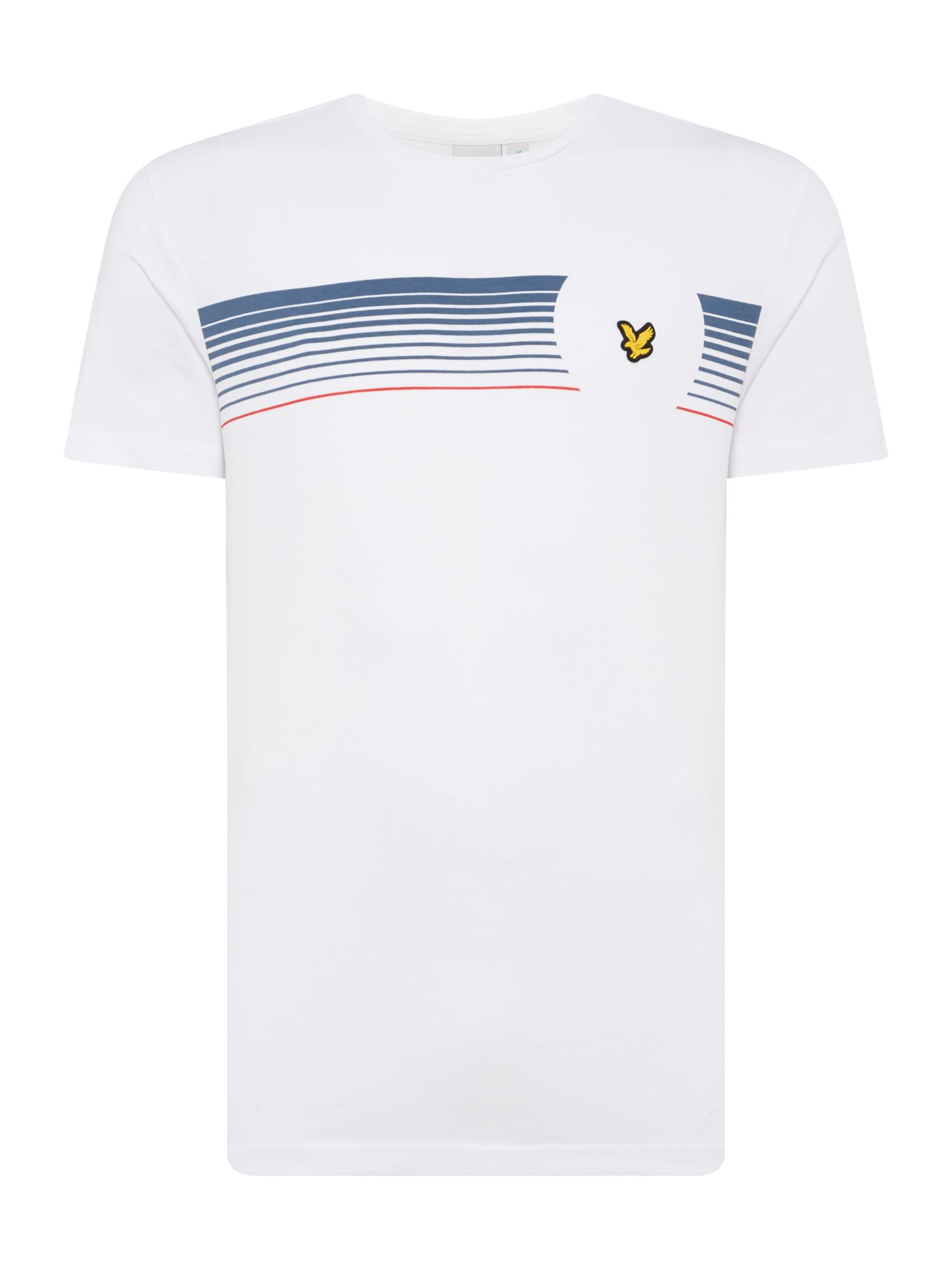 Men's Lyle and Scott Robson graphic print short sleeve tshirt, White