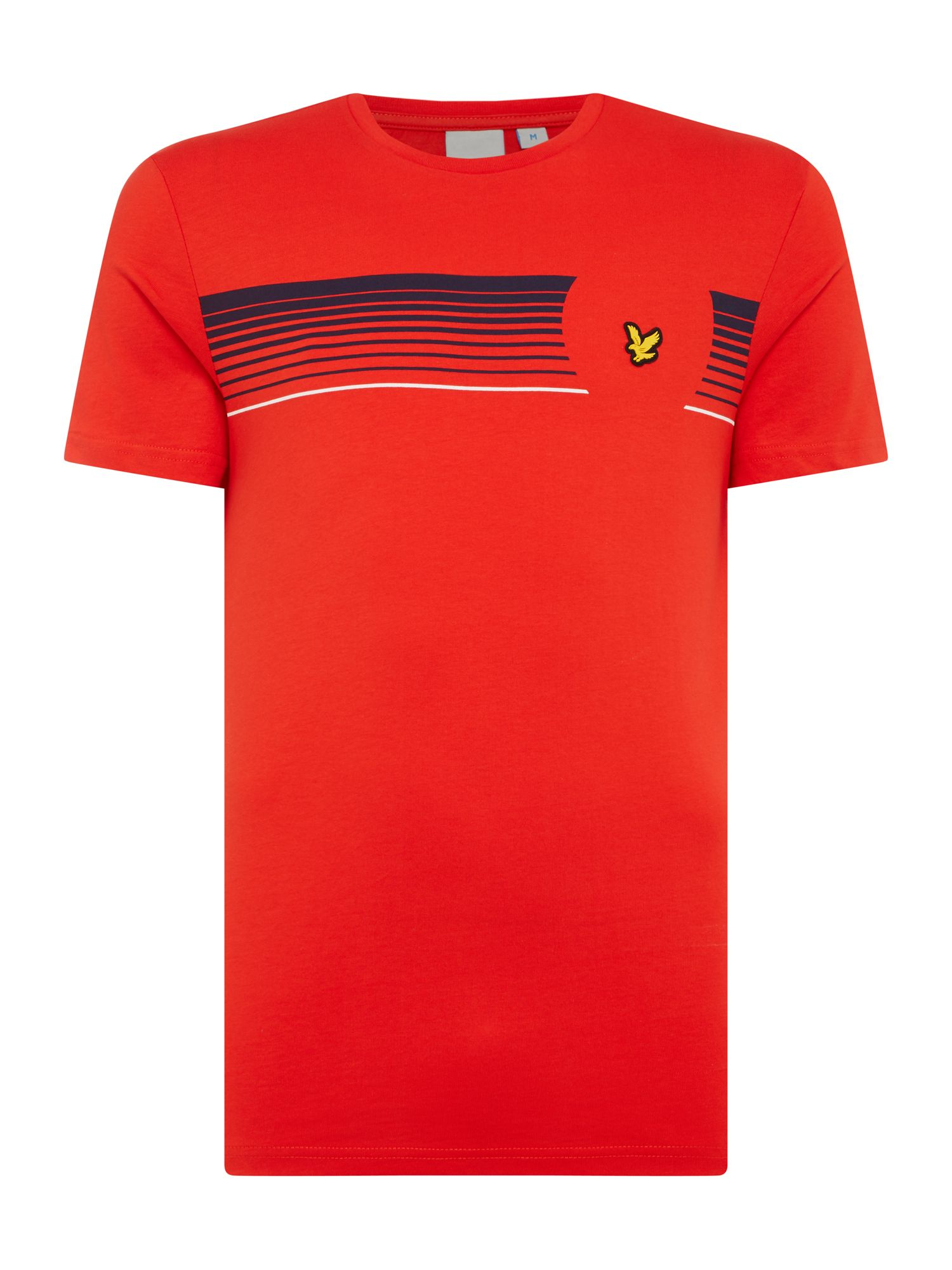 Men's Lyle and Scott Robson graphic print short sleeve tshirt, Red