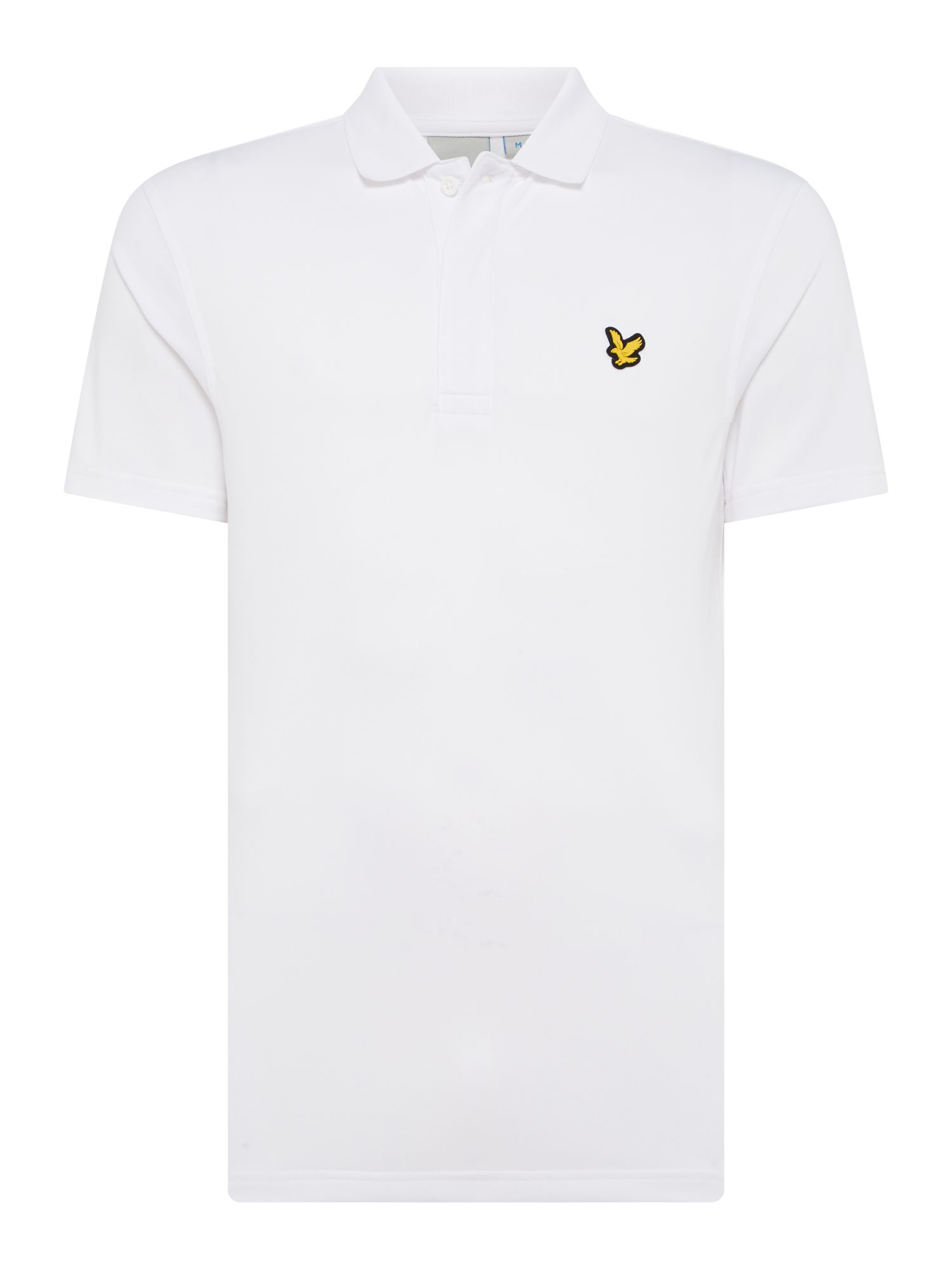 Men's Lyle and Scott Short sleeve sports polo, White