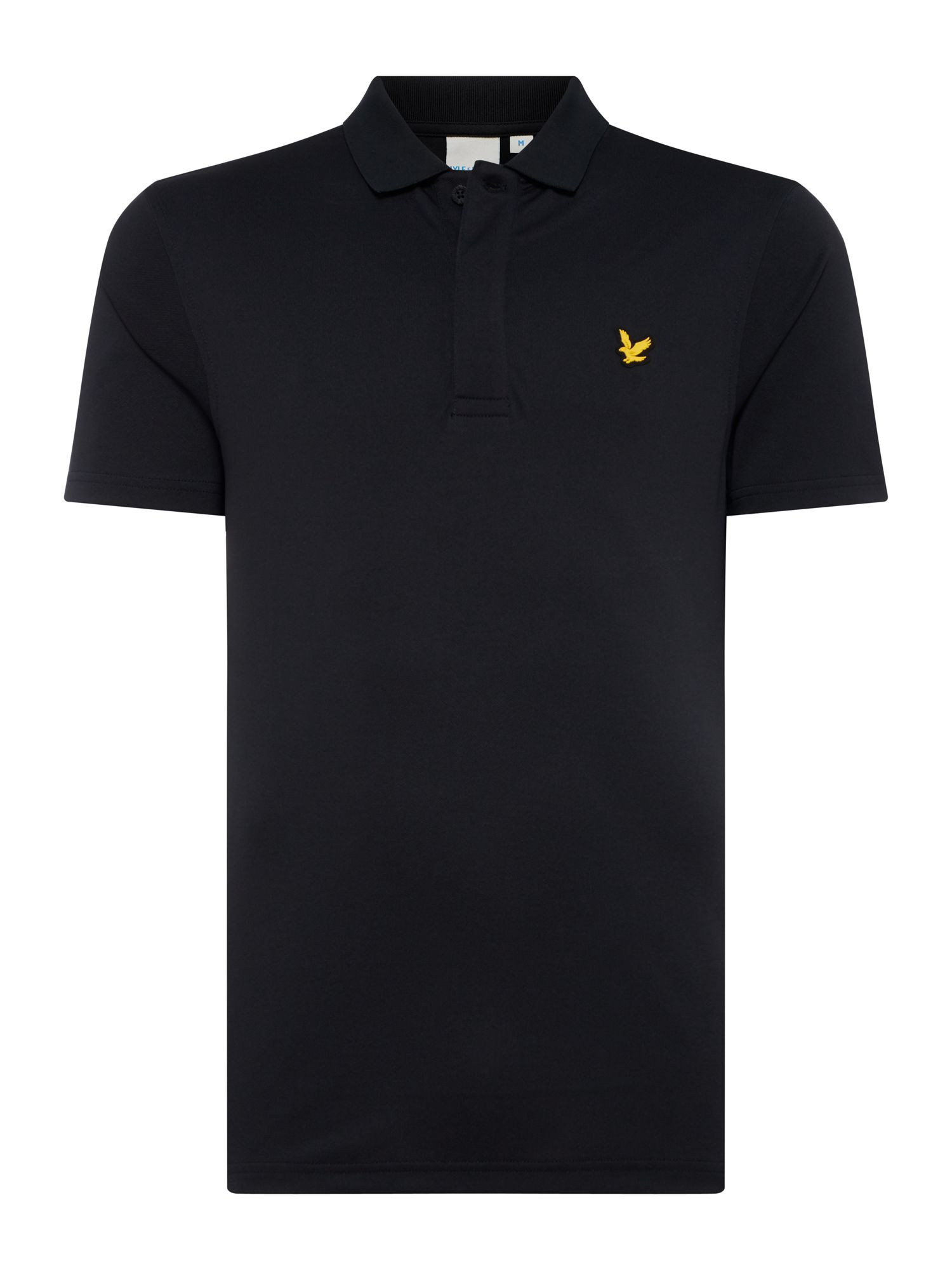 Men's Lyle and Scott Short sleeve sports polo, Black