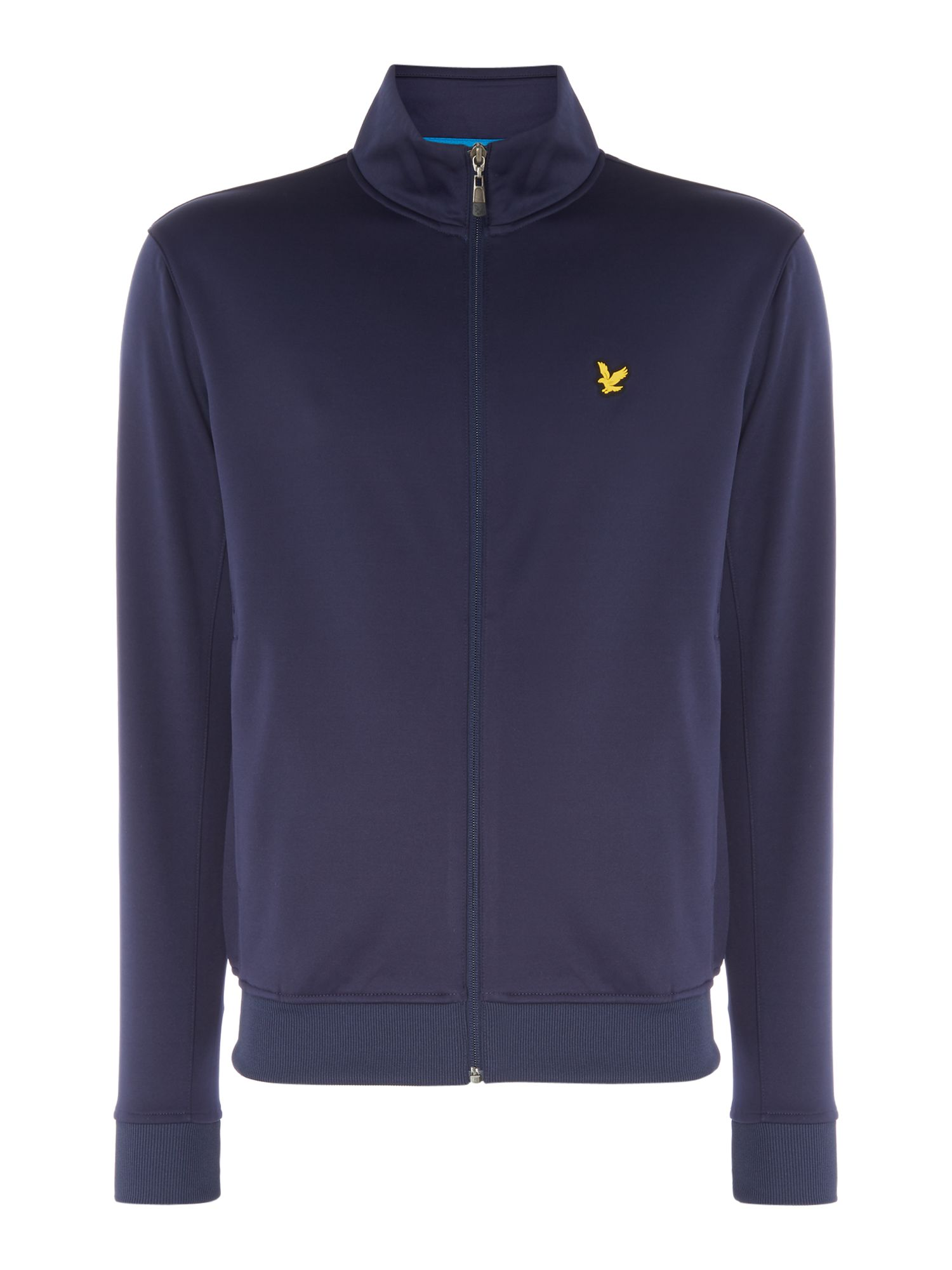 Men's Lyle and Scott Funnel neck zip through sweat, Blue