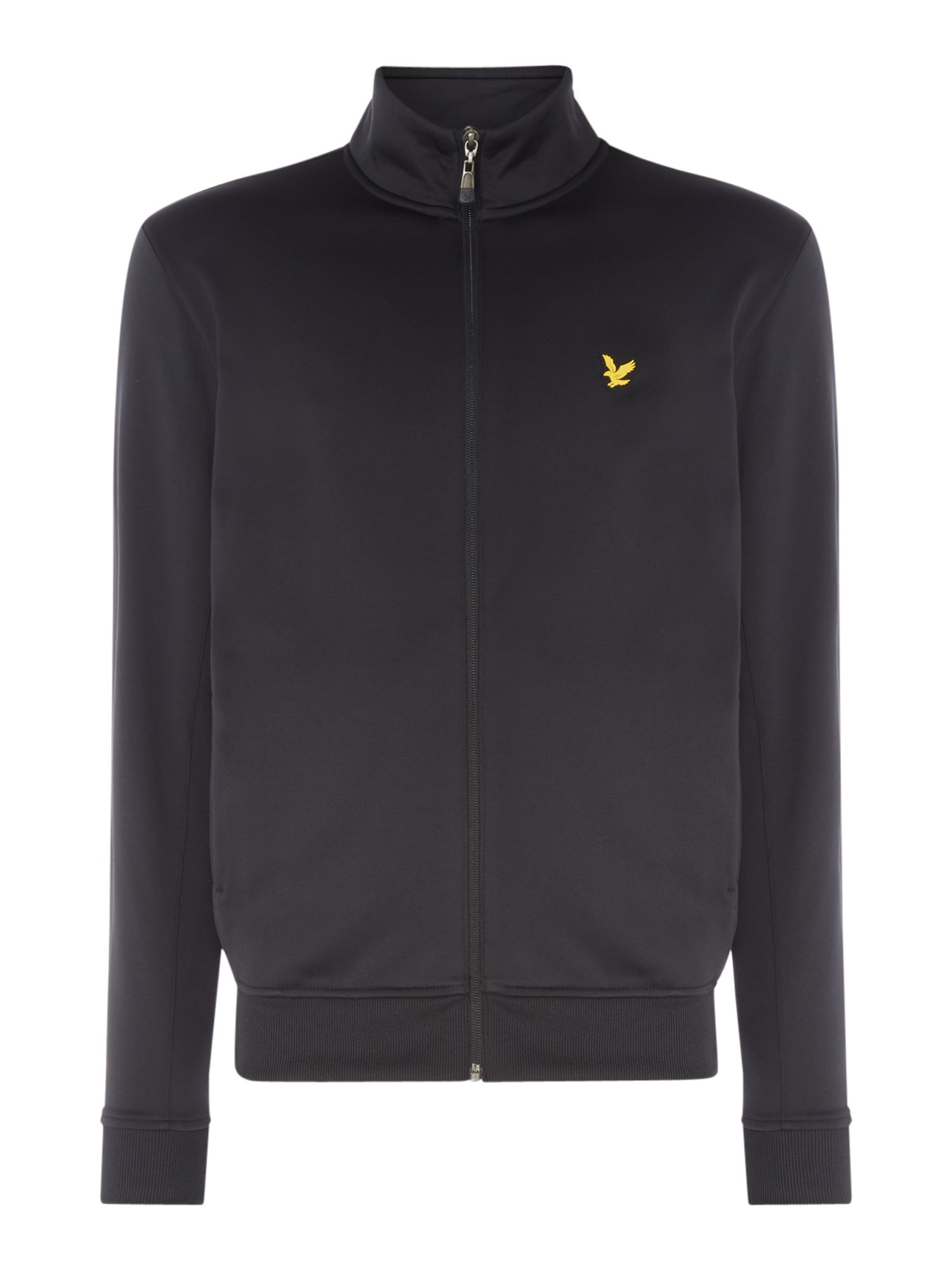 Men's Lyle and Scott Funnel neck zip through sweat, Black