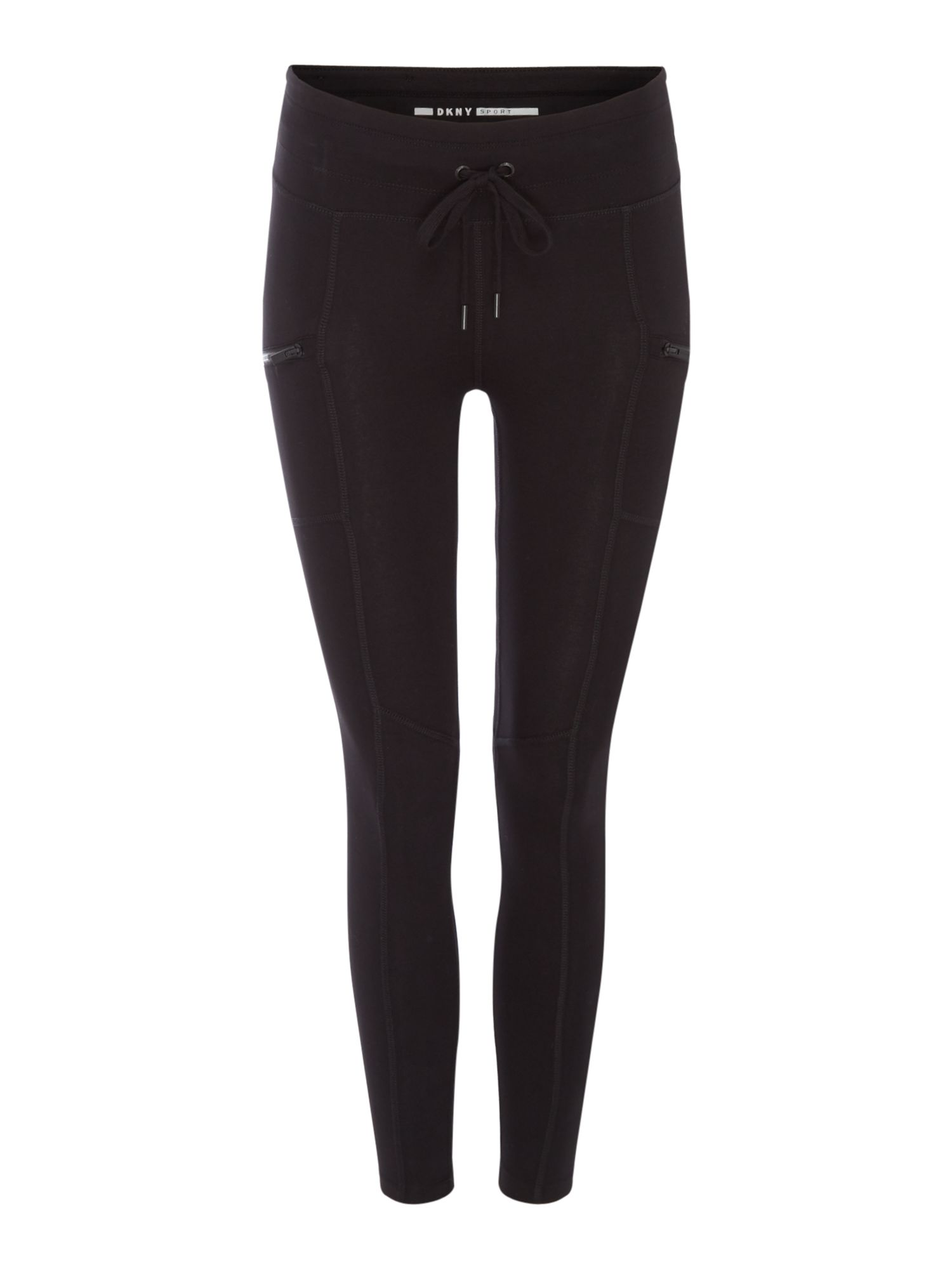 DKNY 78 JERSEY LEGGING WITH POCKETS, Black