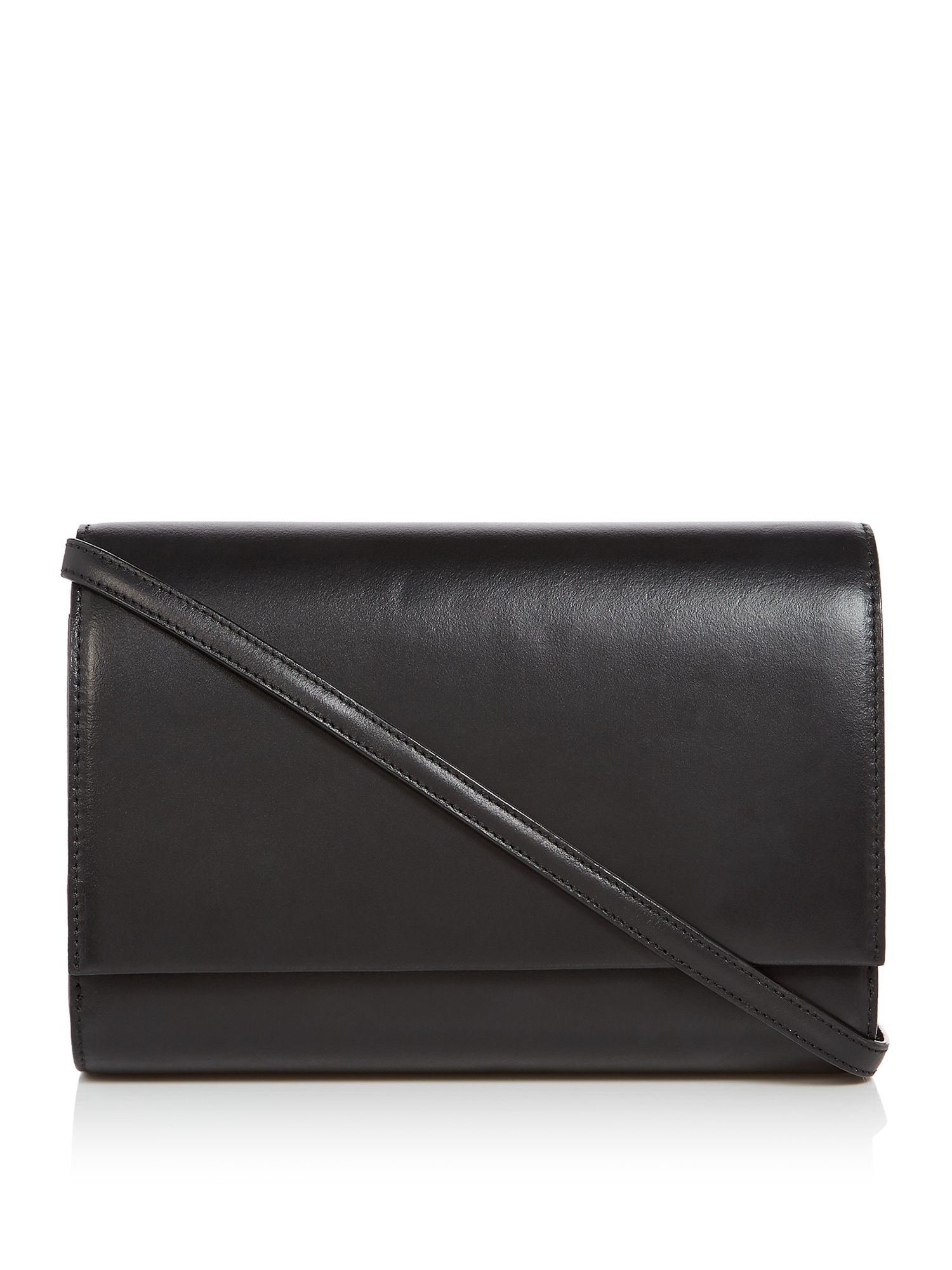 Linea Adele Leather Shoulder Bag, Black
