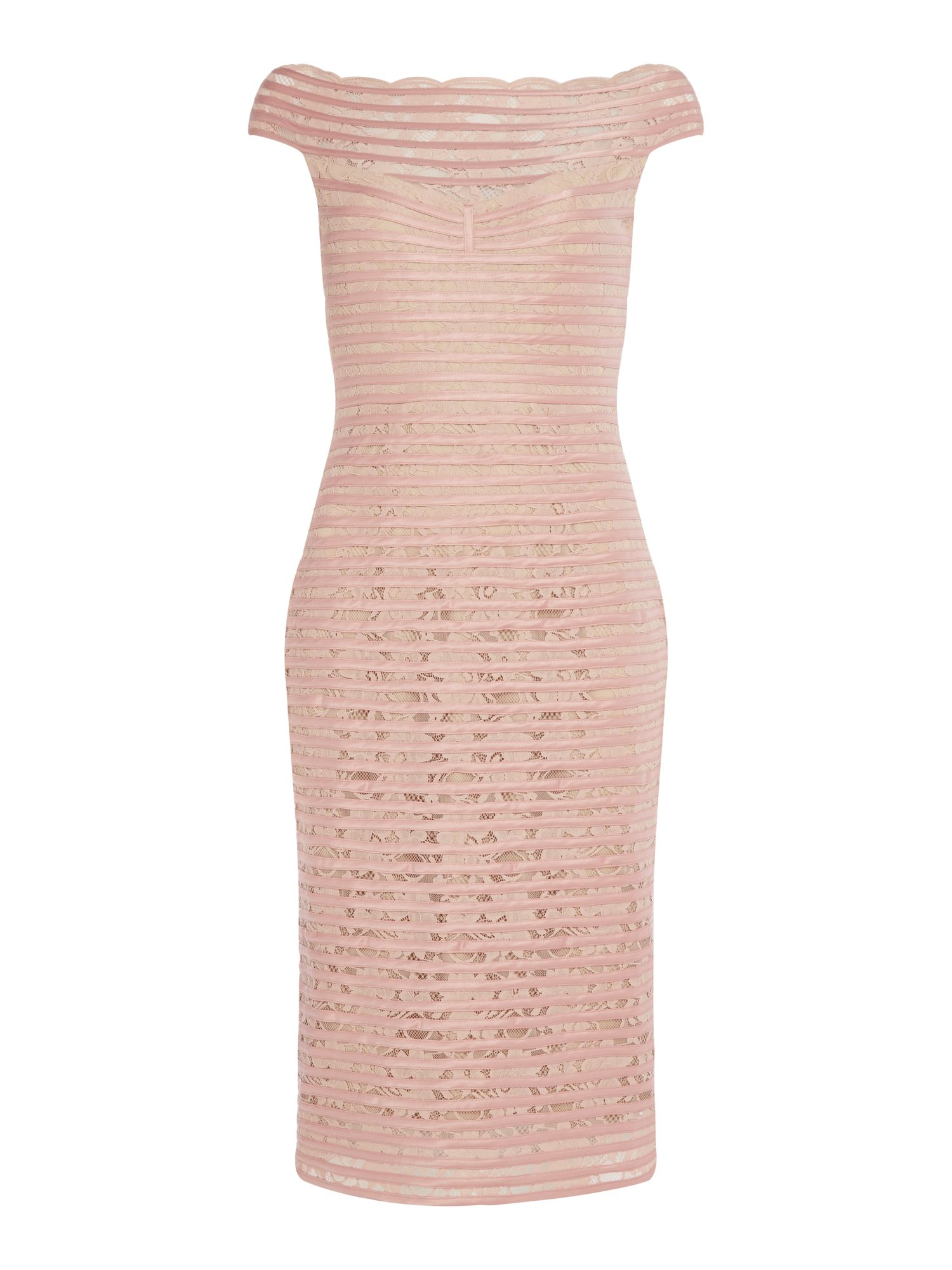 JS Collections Lace shift dress, Rose