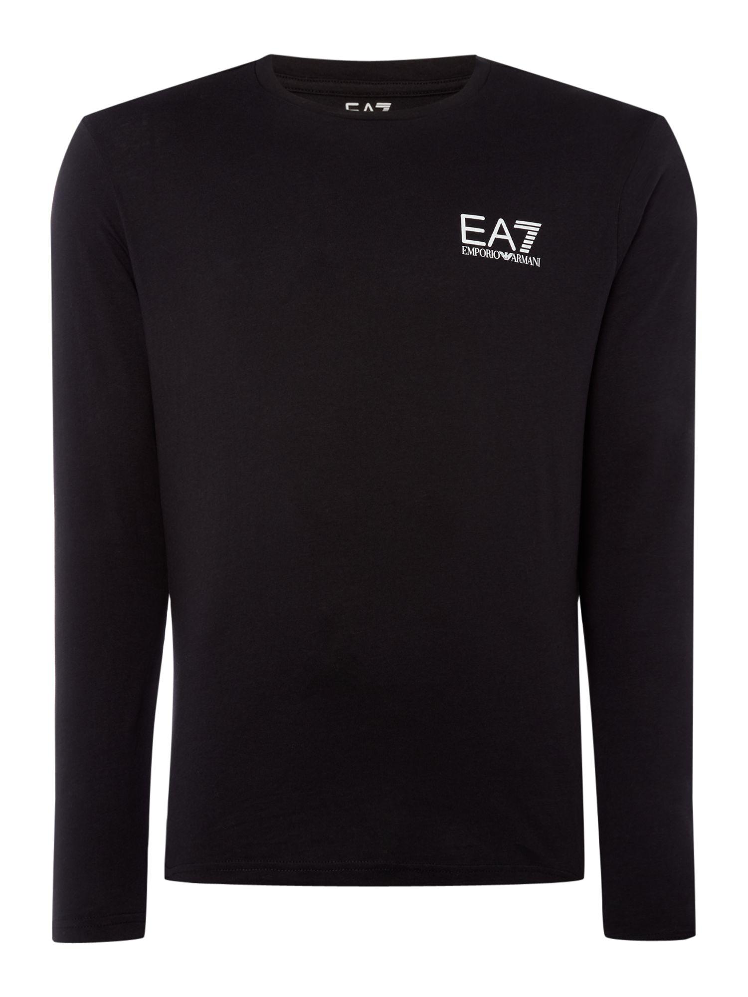 Men's EA7 Long sleeve core id long sleeve tshirt, Black