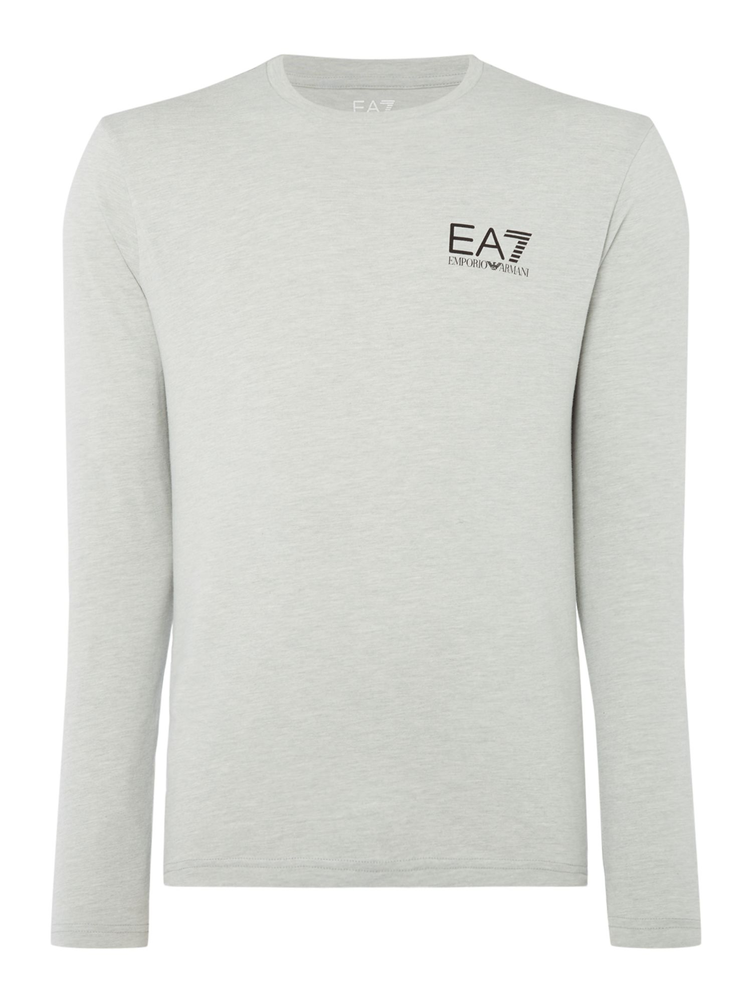Men's EA7 Long sleeve core id long sleeve tshirt, Light Grey