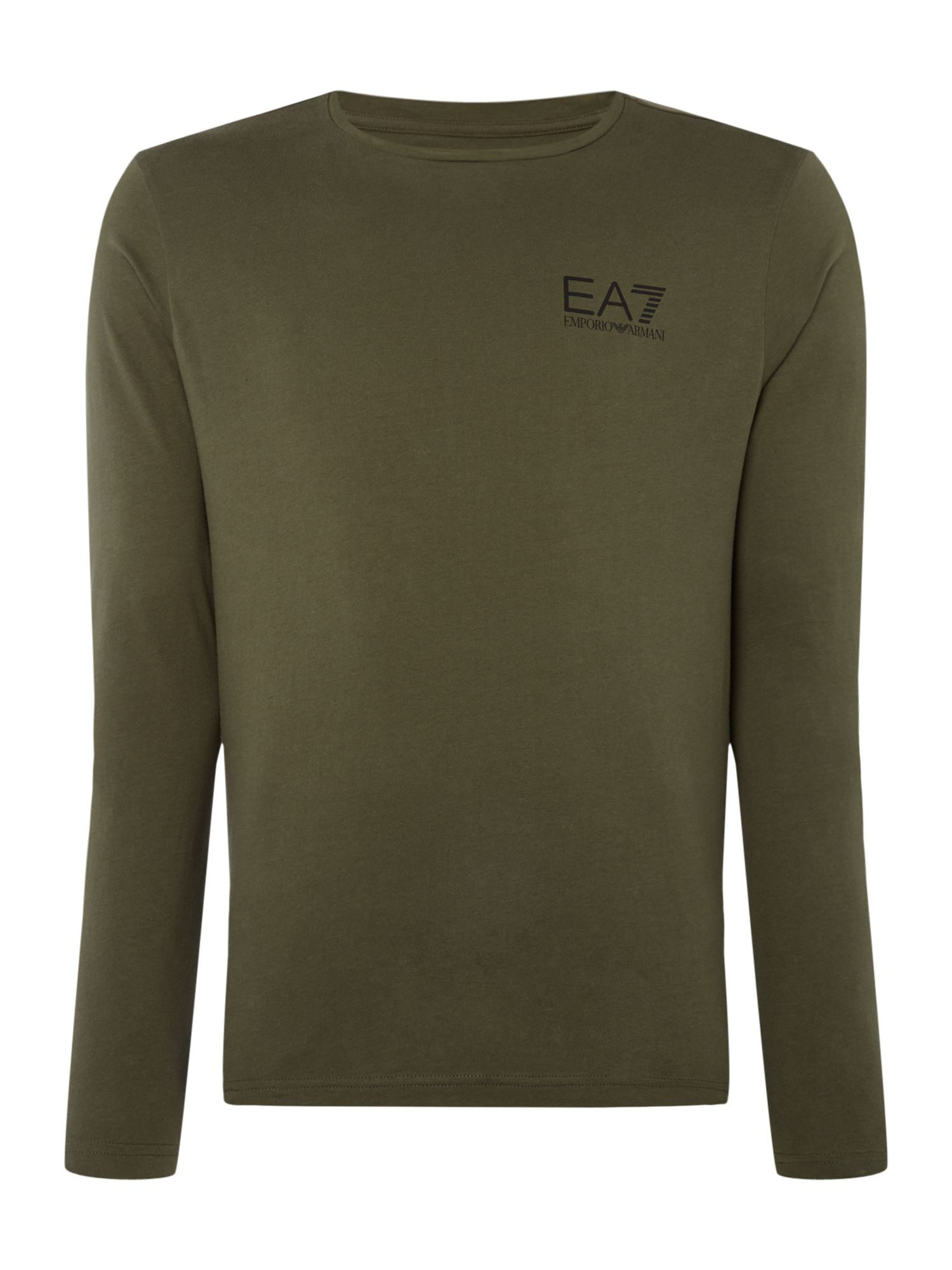 Men's EA7 Long sleeve core id long sleeve tshirt, Khaki