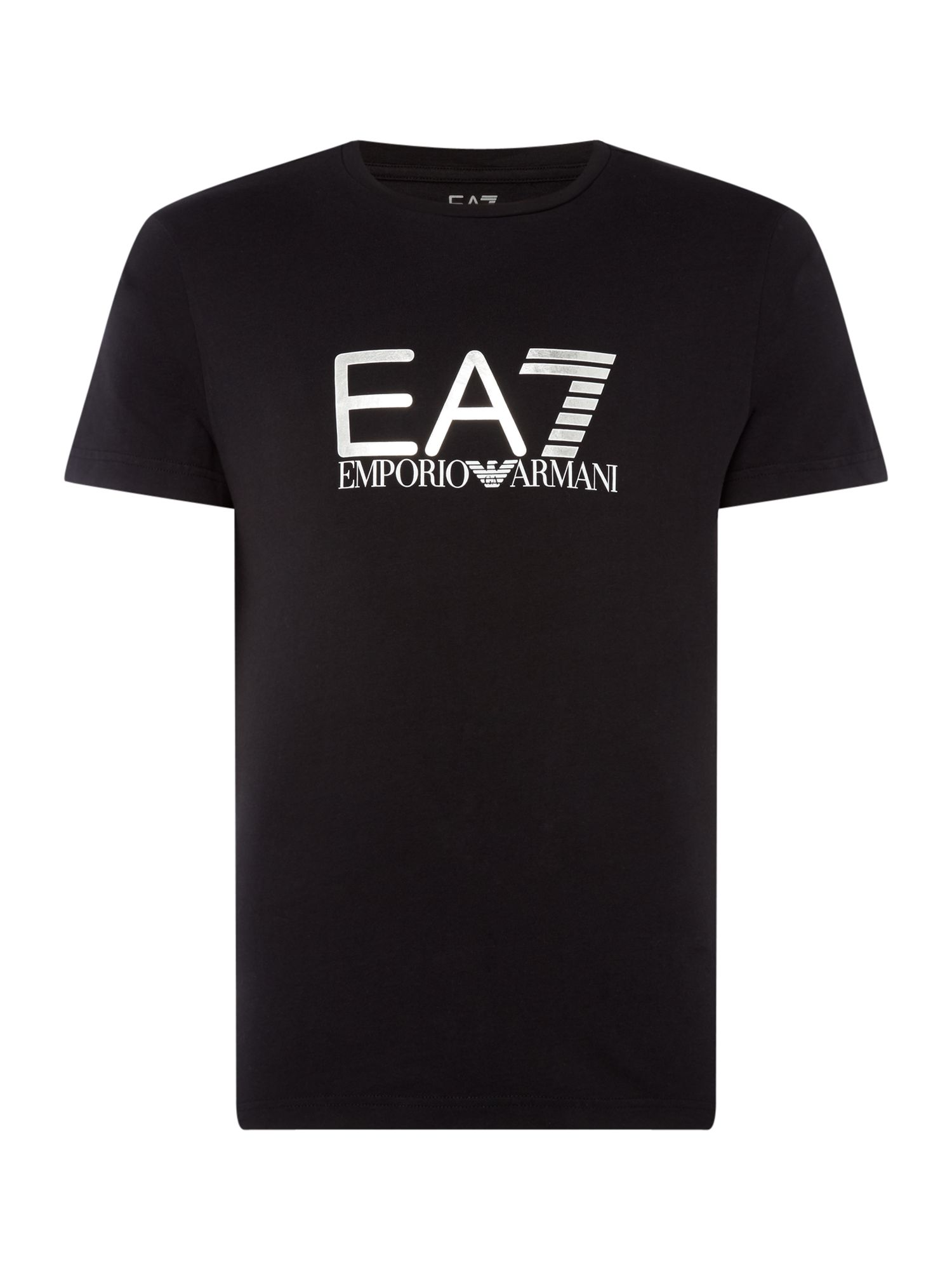 Men's EA7 Visibility graphic tshirt, Black