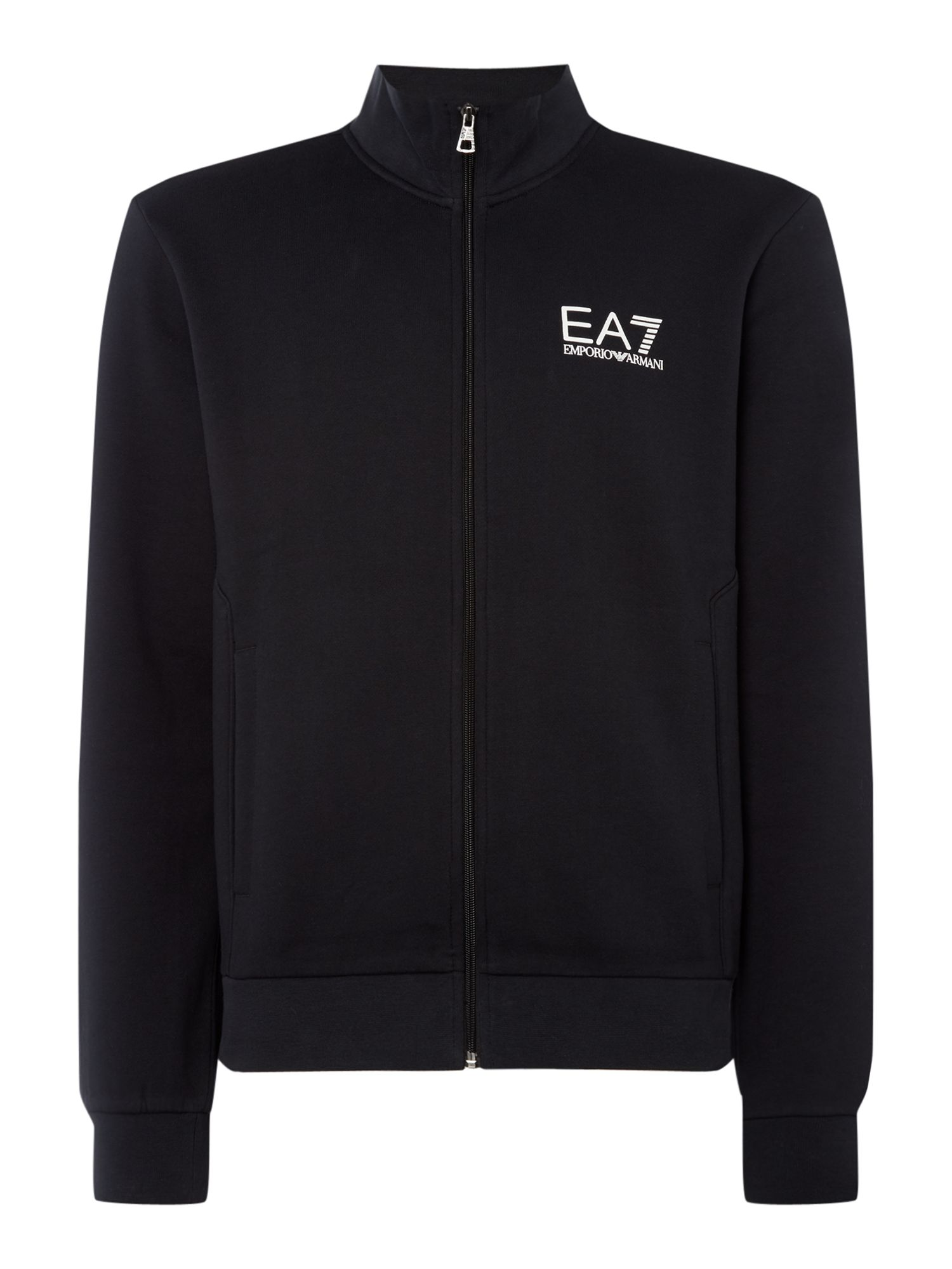 Men's EA7 Core ID funnel neck, Black