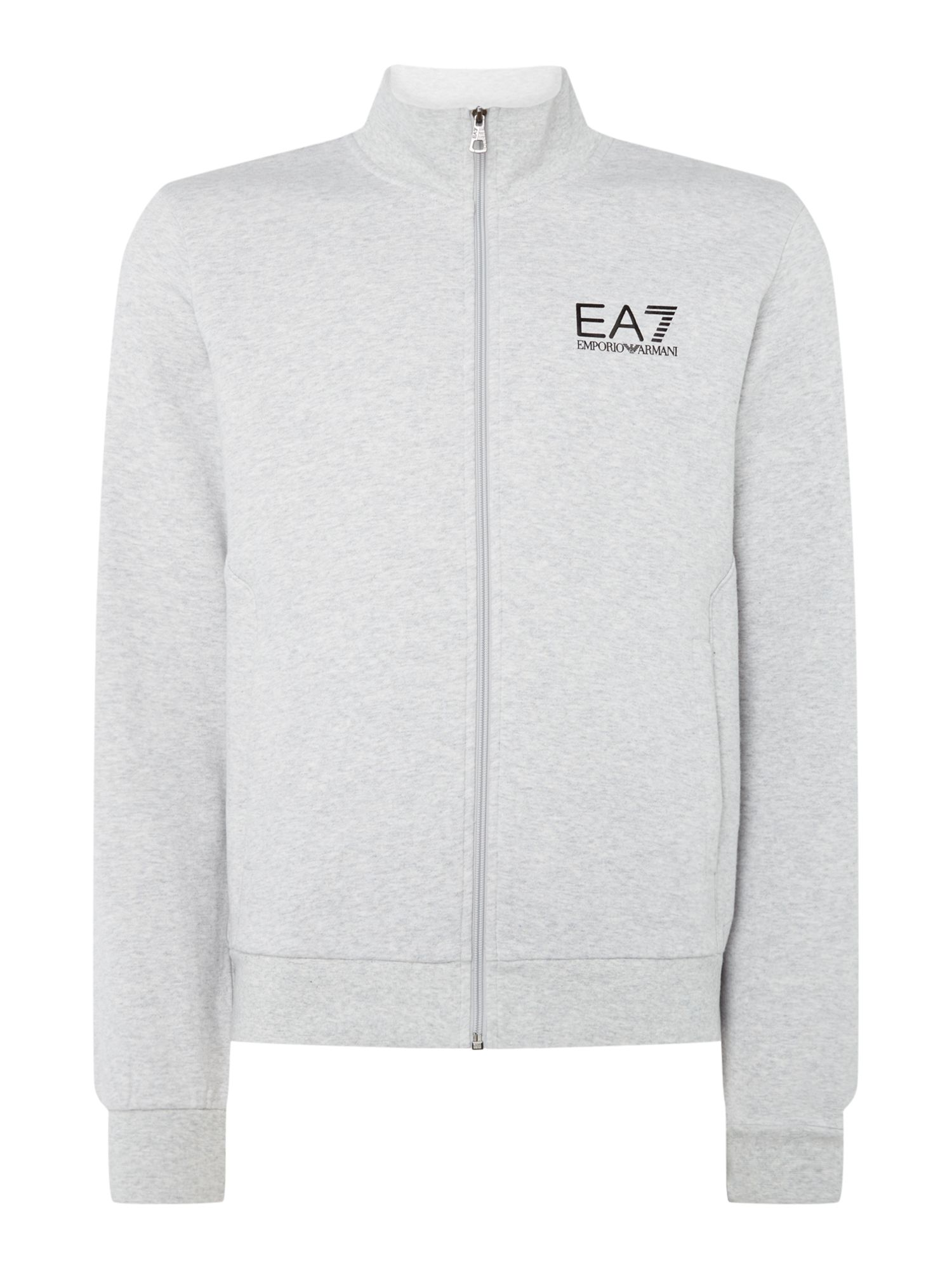 Men's EA7 Core ID funnel neck, Light Grey