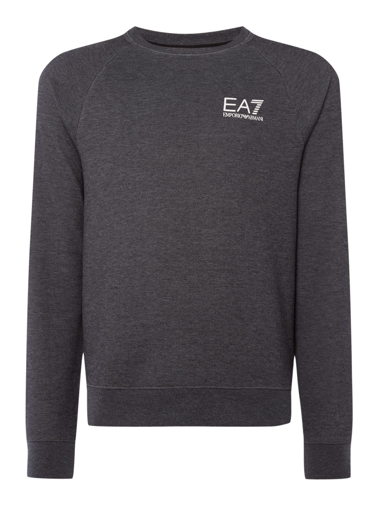 Men's EA7 Core ID crew neck jumper, Dark Grey