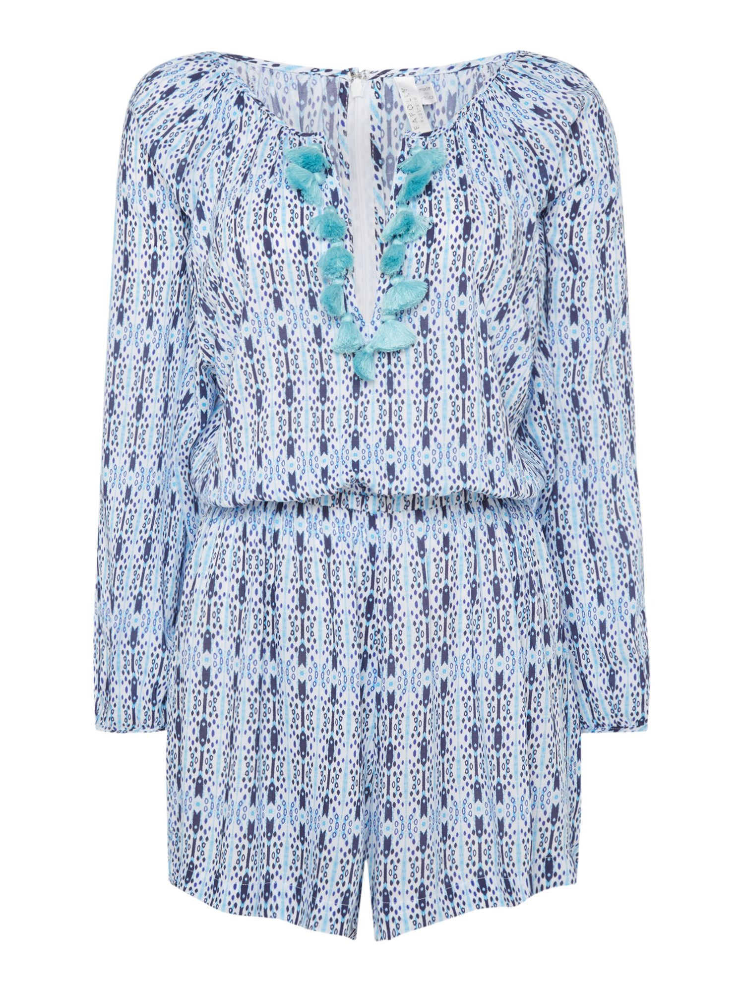 Seafolly Textured mini print playsuit, Blue