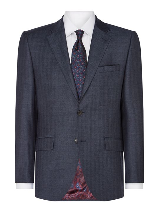 Turner & Sanderson Ashford Tailored Brushed Herringbone Suit Jacket