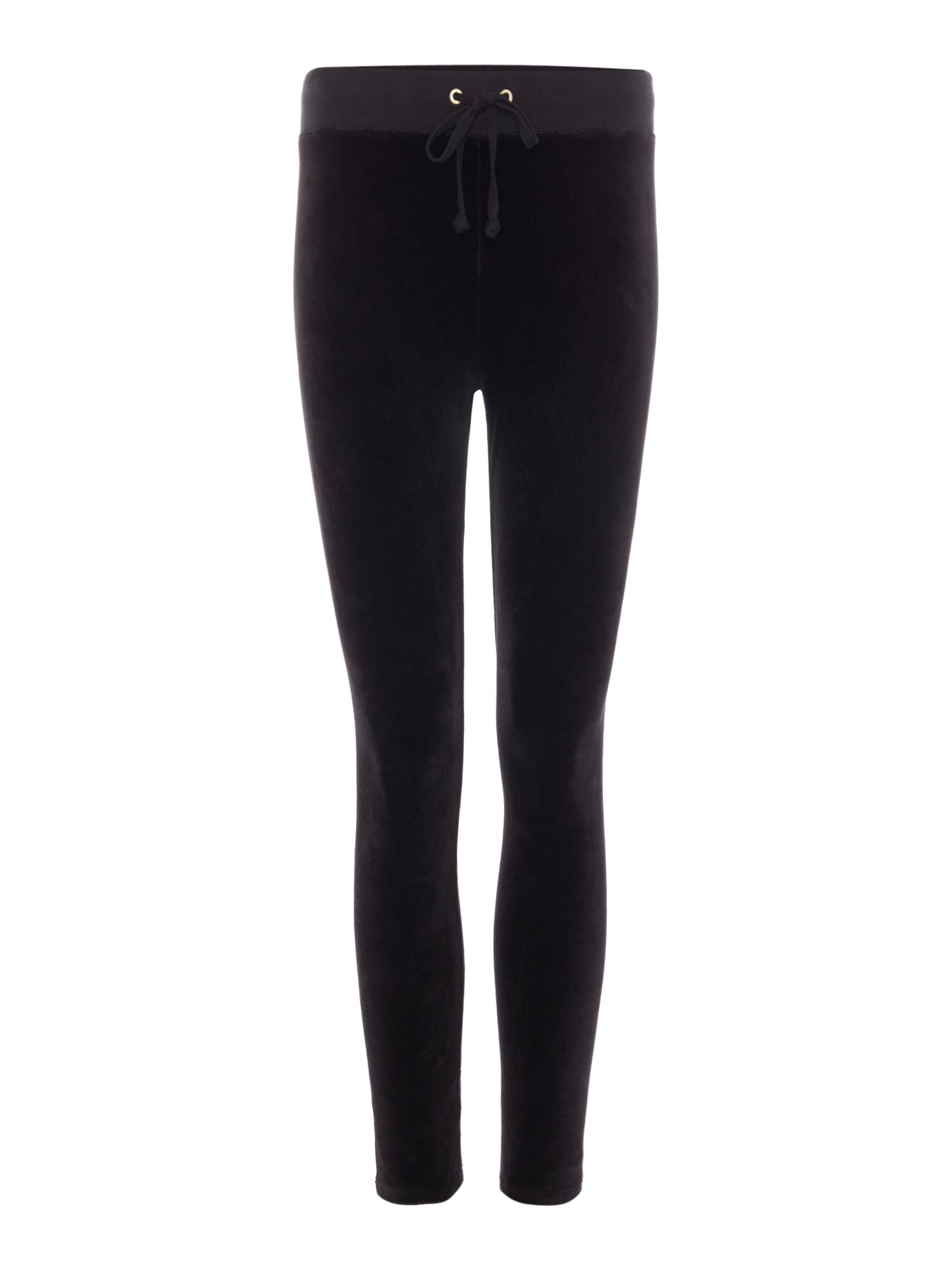 Juicy by Juicy Couture Velour Rodeo Drive Stretch Leggings, Black