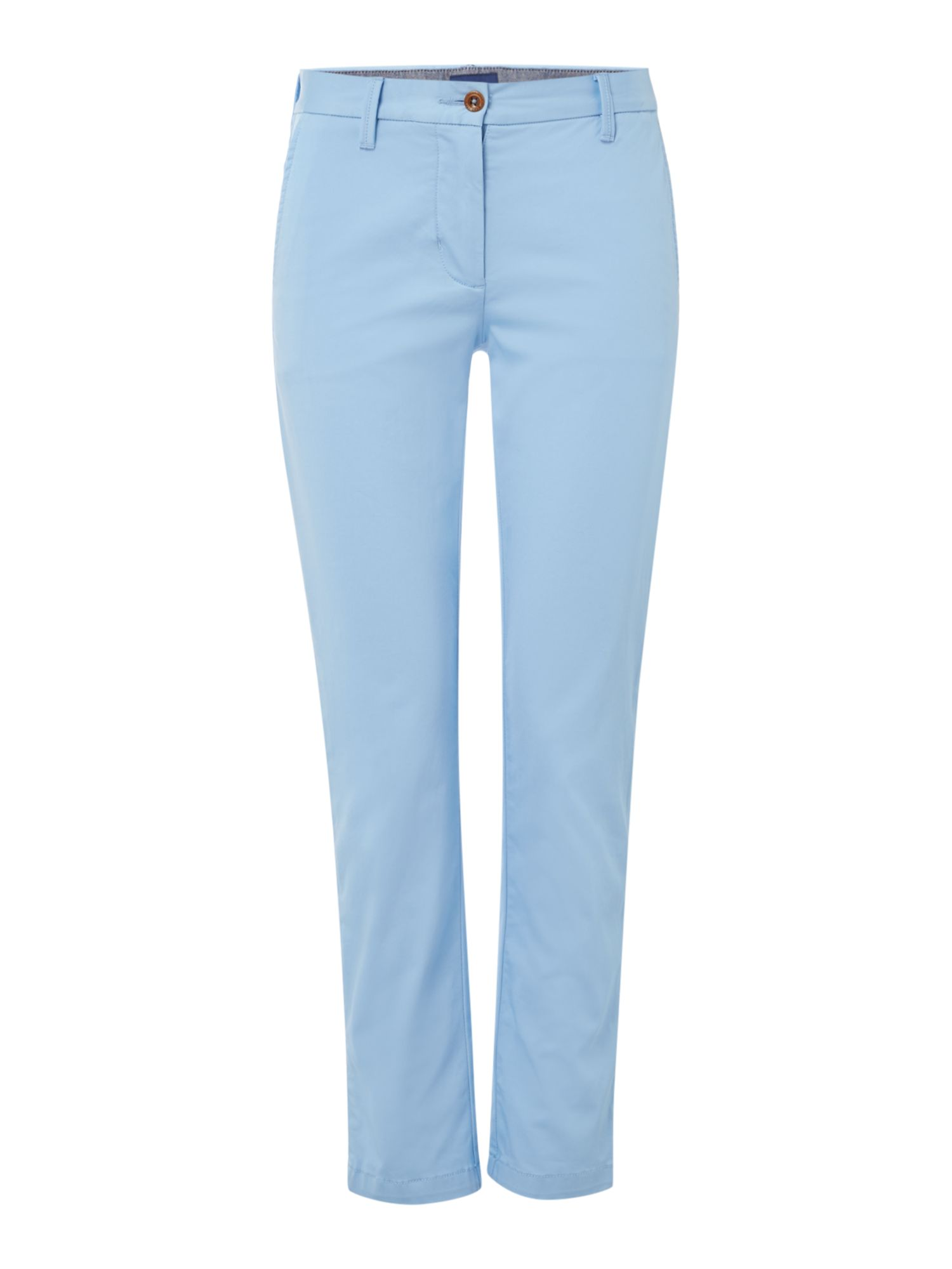 GANT Classic Cropped Chino Trousers, Light Blue