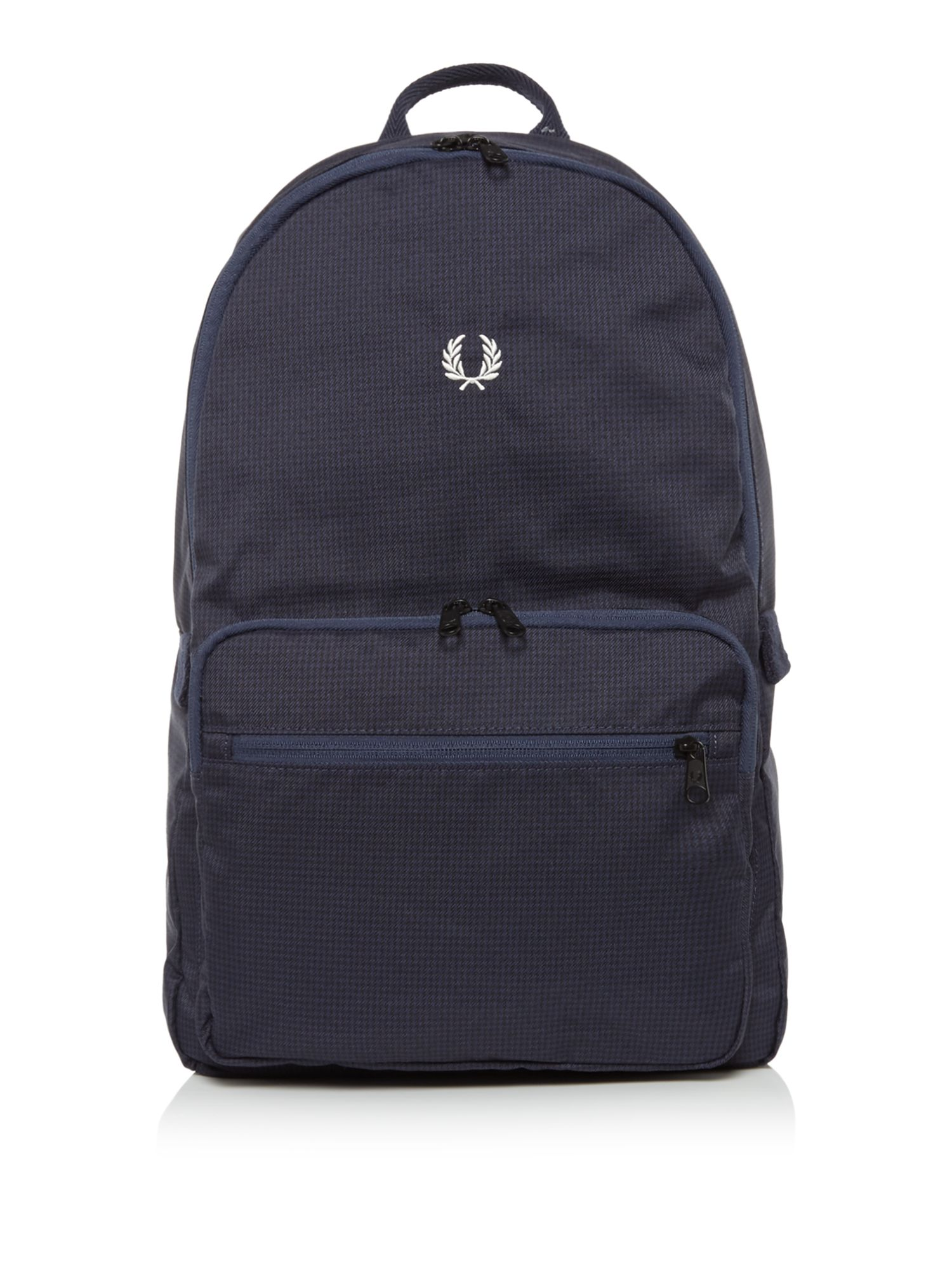 Fred Perry Checked Twill Backpack, Blue